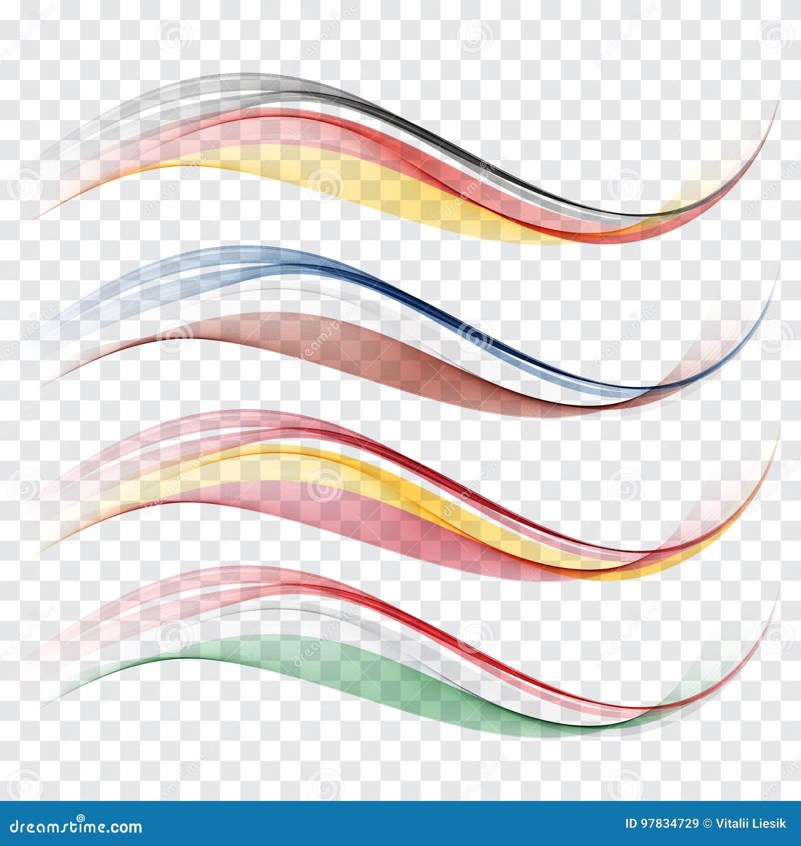Abstraiga las ondas Los colores de la bandera de Alemania, Francia, España, Italia