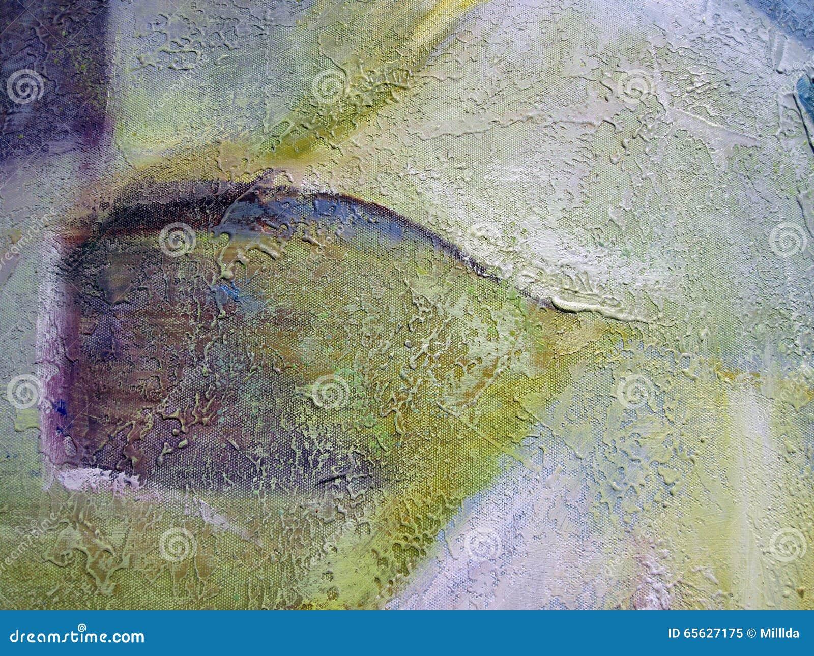 Abstrait peint coloré