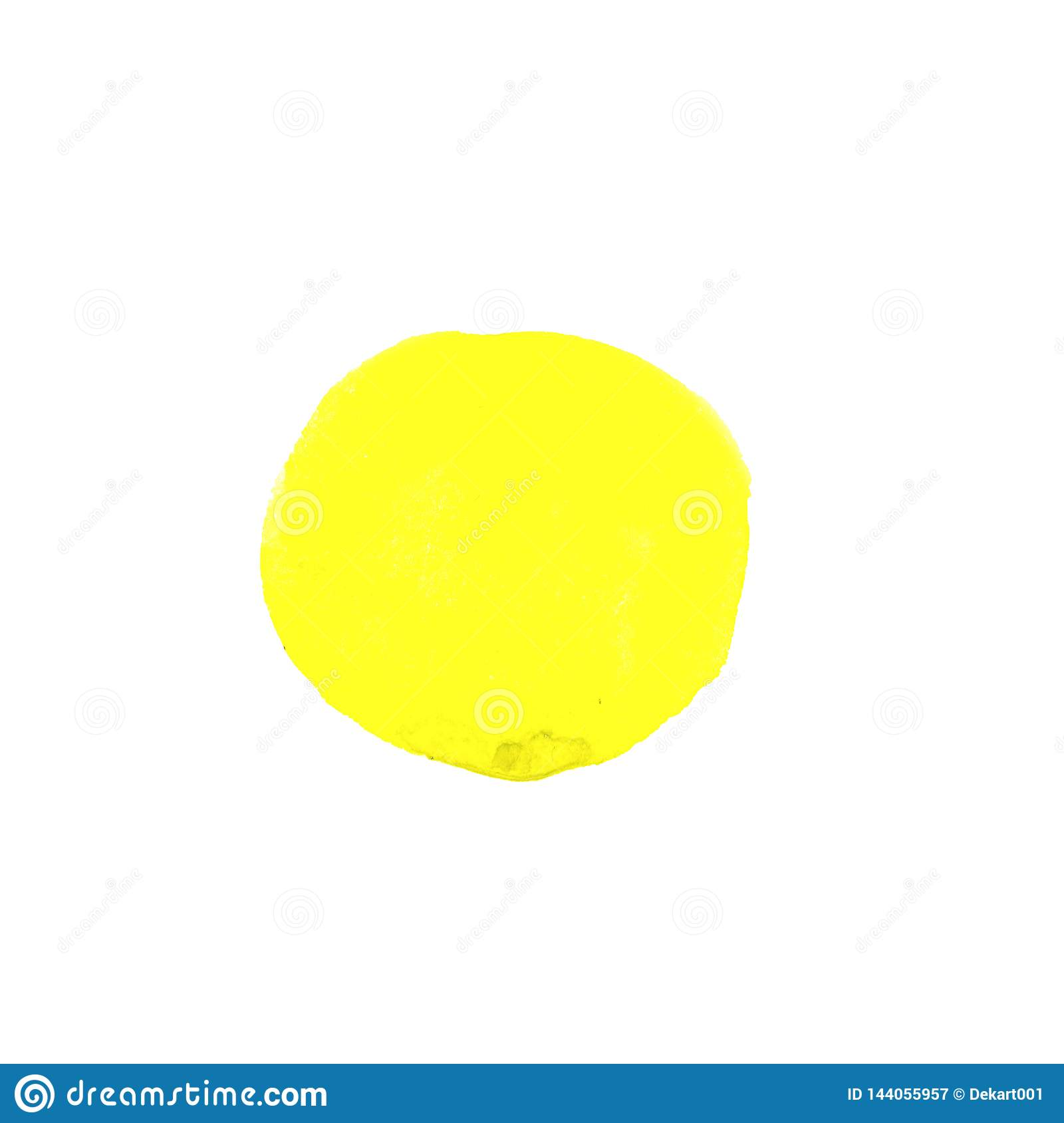 Abstrakcjonistyczna żółta ręka malujący akwarela okrąg Piękny element dla projekta tła koloru mężczyzna muzyki wektor