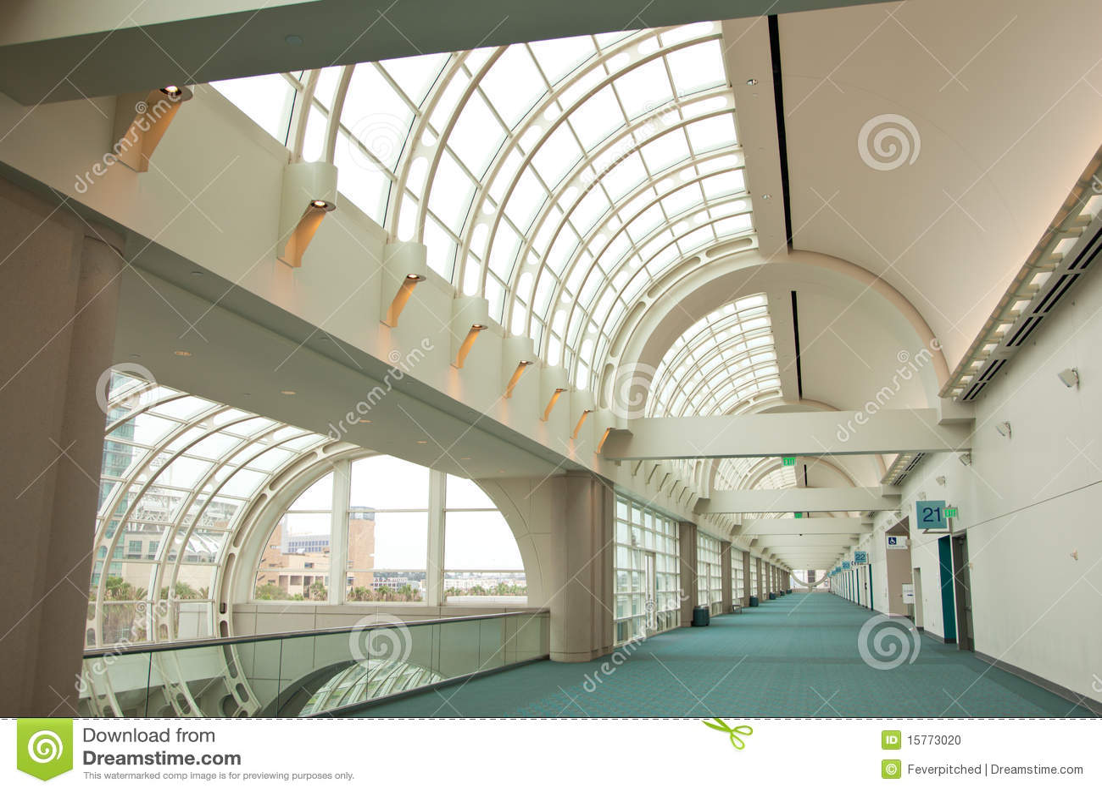 Abstrakcjonistyczna architektoniczna centrum konwencja Diego San