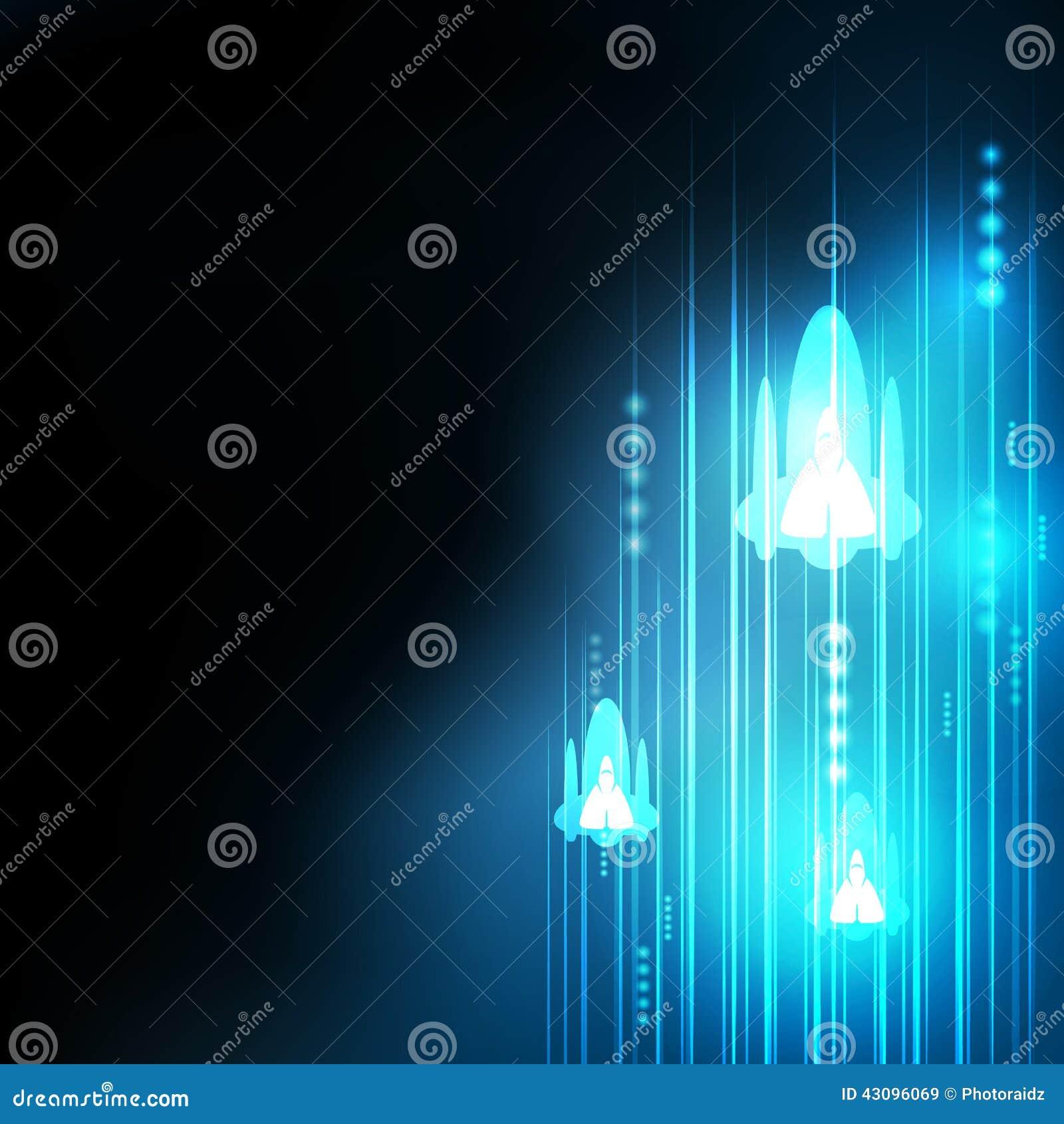 Abstrakcjonistyczna błękit rakiety technologia