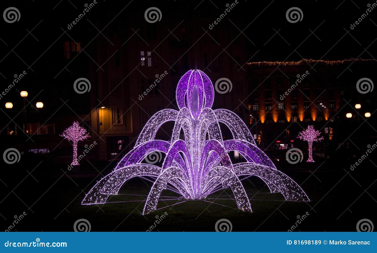 Abstrakcjonistyczna Christmas&NewYear dekoracja
