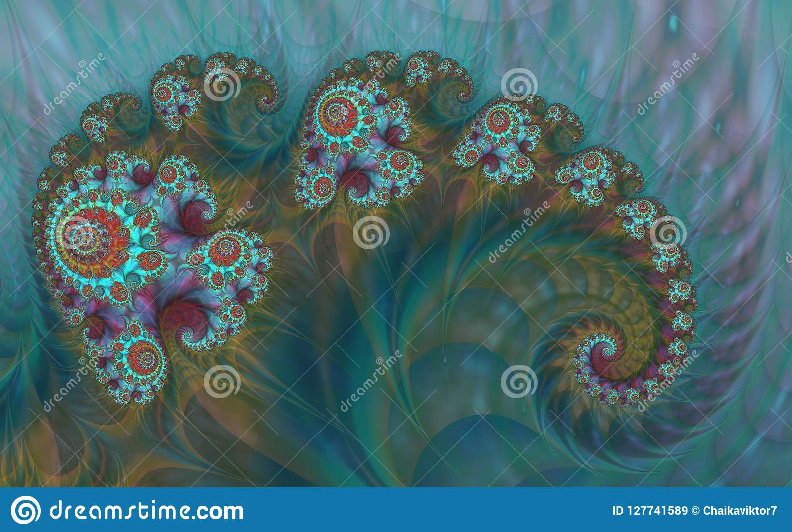 Abstrakcjonistyczna cyfrowa grafika Wzory natura Magii skorupy