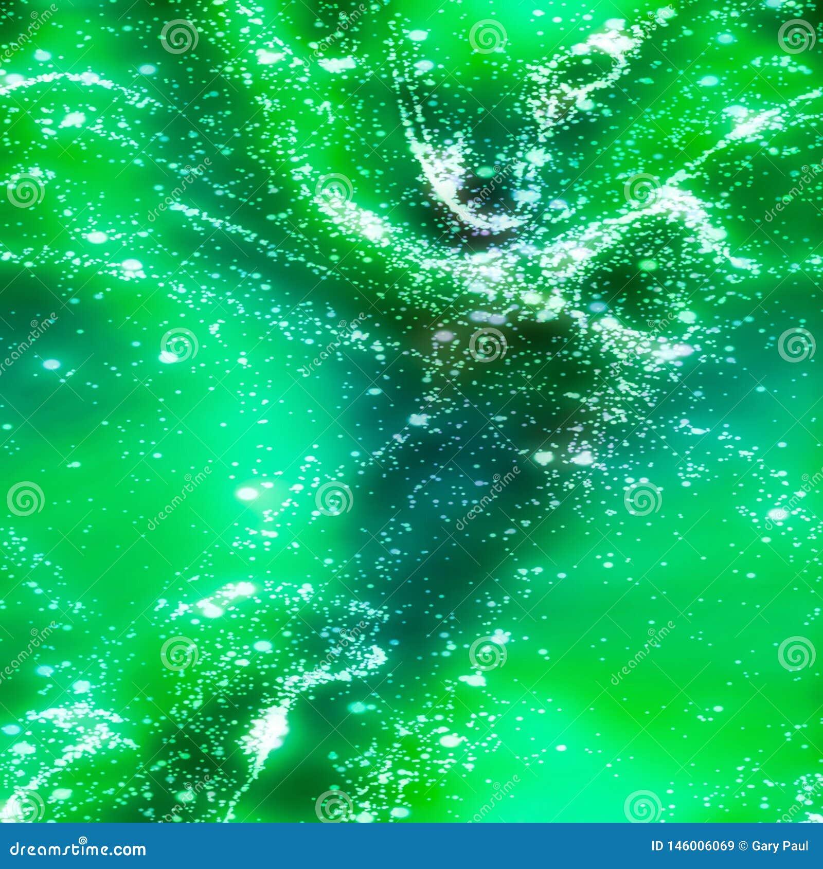 Abstrakcjonistyczna fractal iluminacja zielony ciecz
