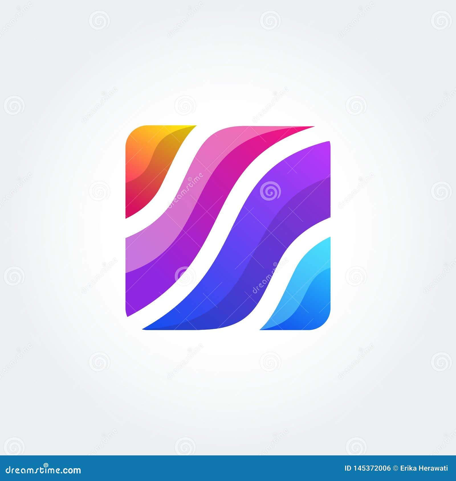 Abstrakcjonistyczna ikona, wektoru znak, kolorowy logotyp Logo dla ?rodk?w, moda, kosmetyki