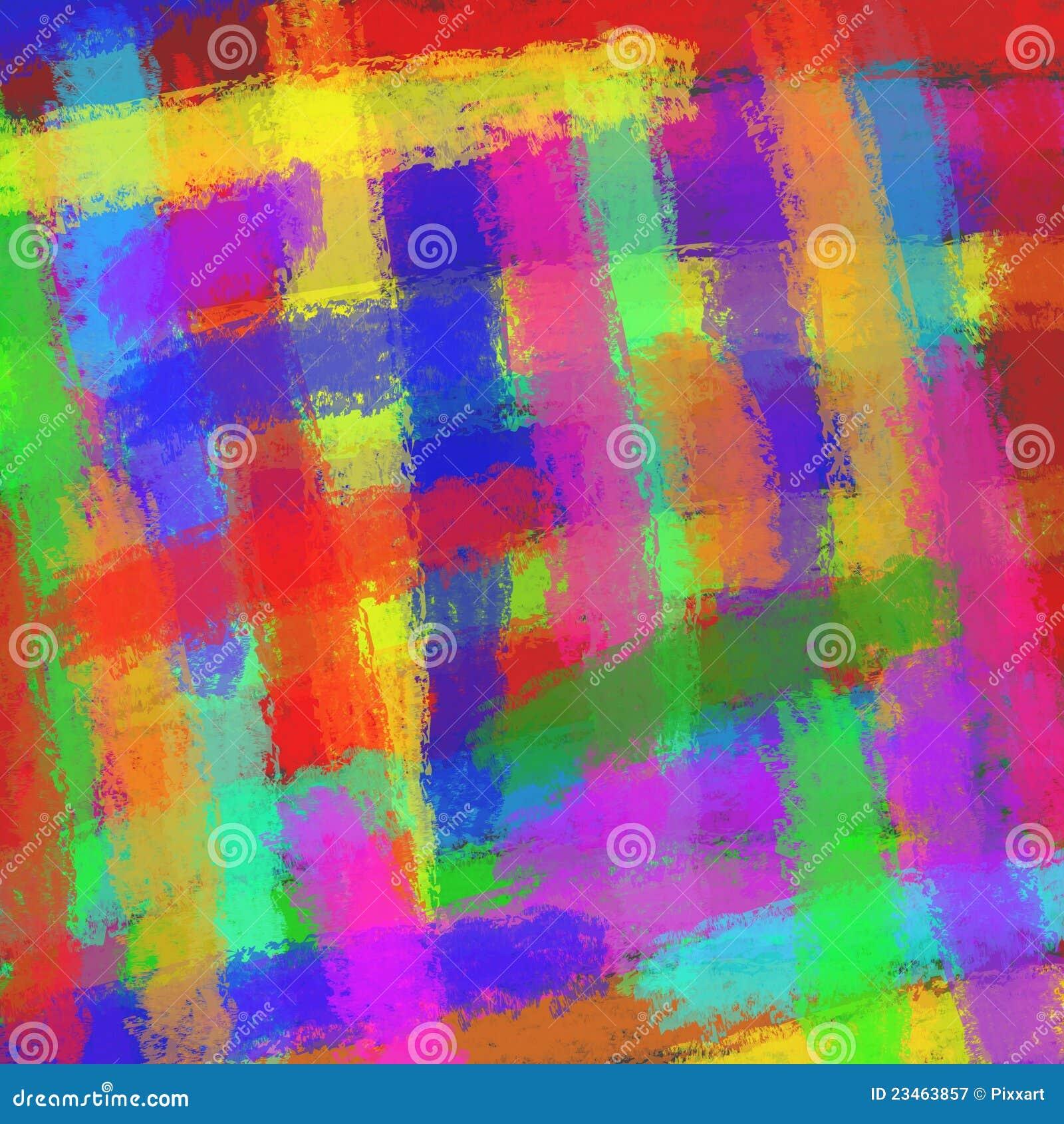 Abstrakcjonistyczna kolorowa ilustracja