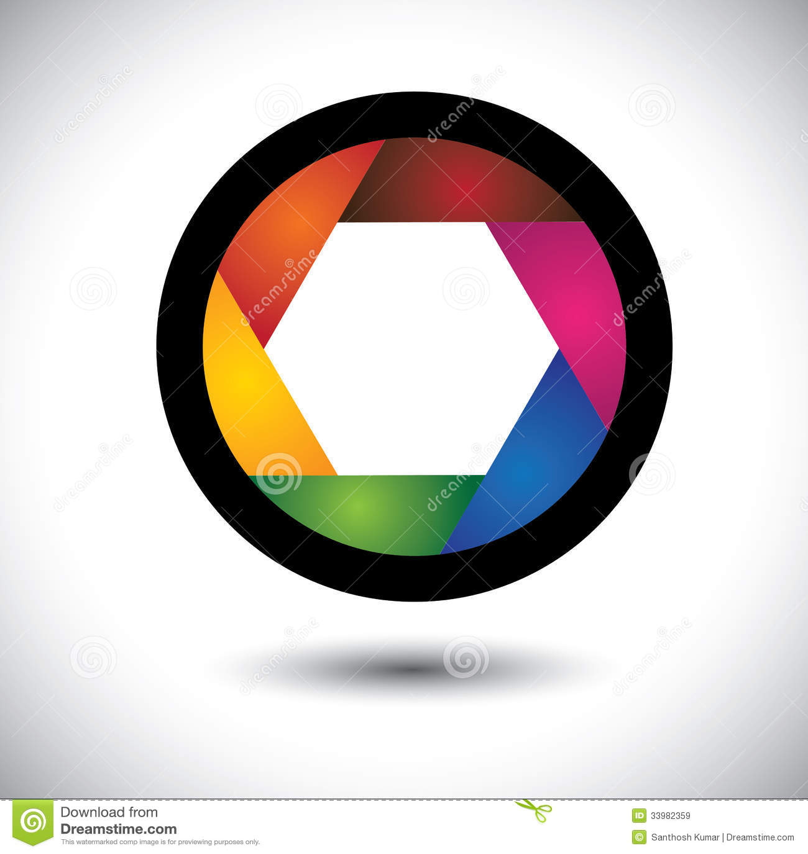 Abstrakcjonistyczna kolorowa kamery żaluzja z ostrzami (apertura)