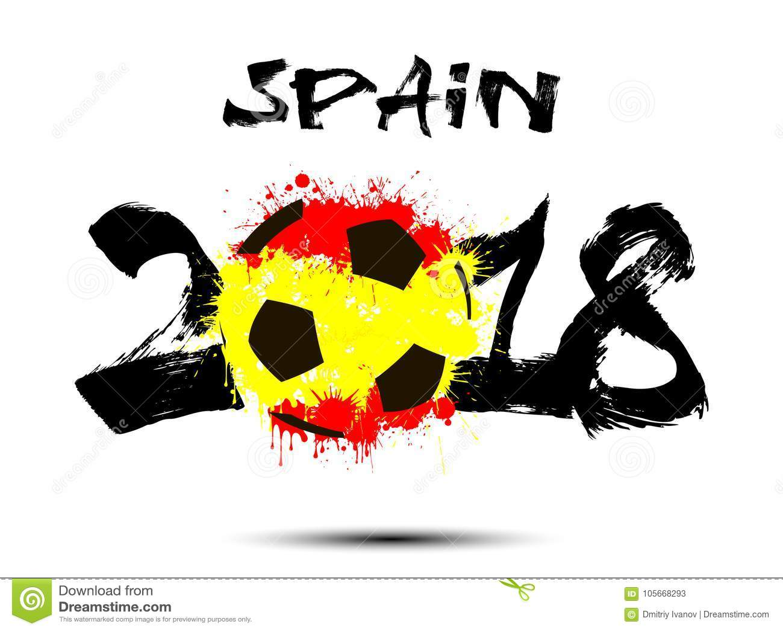 Abstrakcjonistyczna liczba 2018 i piłki nożnej piłki kleks