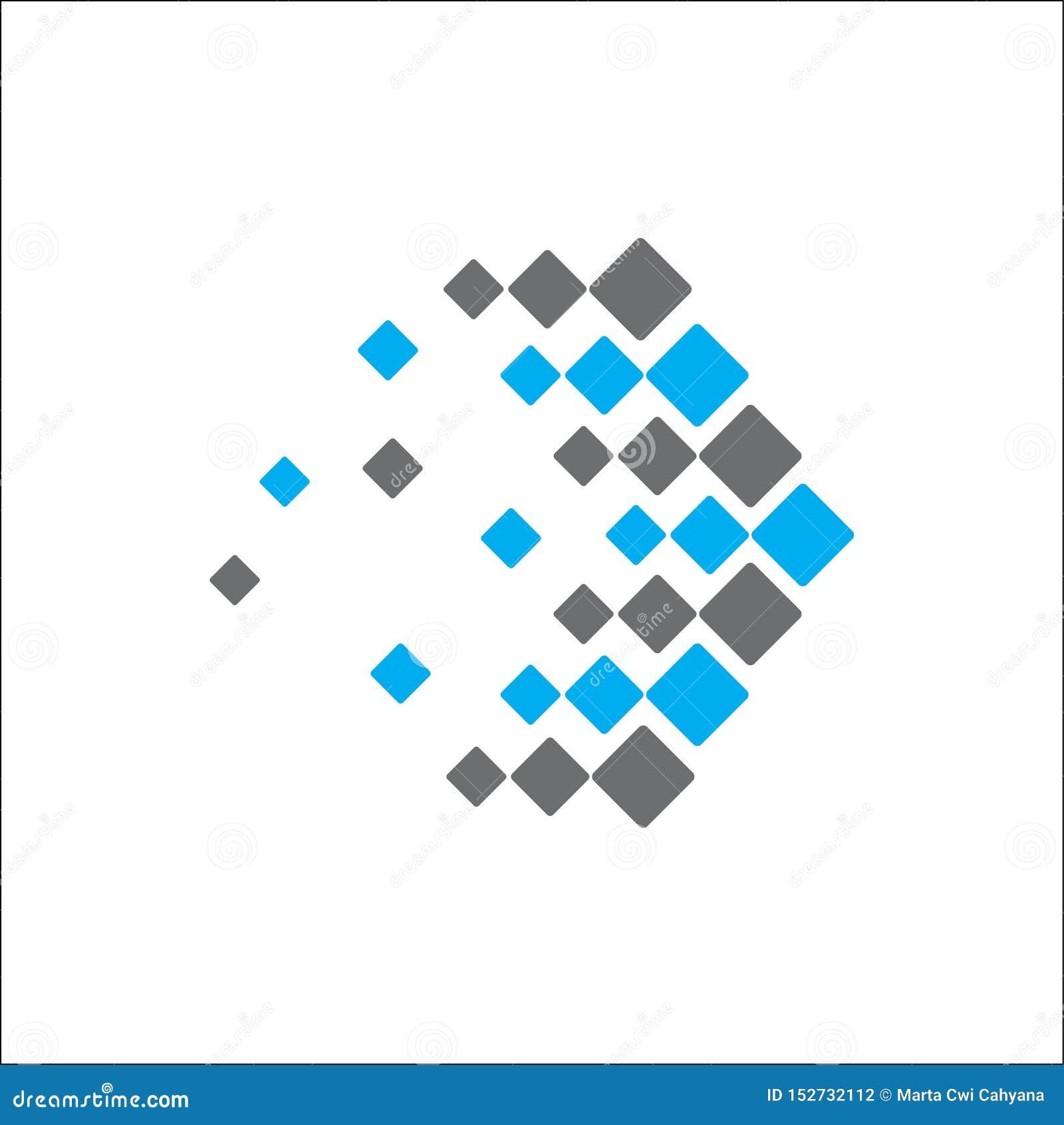 Abstrakcjonistyczna logo technologii strzała