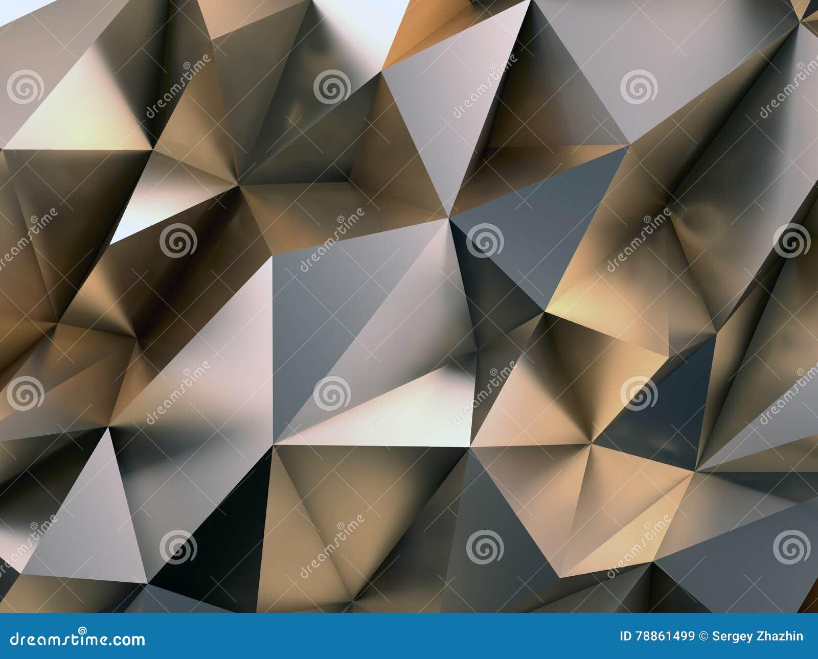Abstrakcjonistyczna metalu tła 3D ilustracja