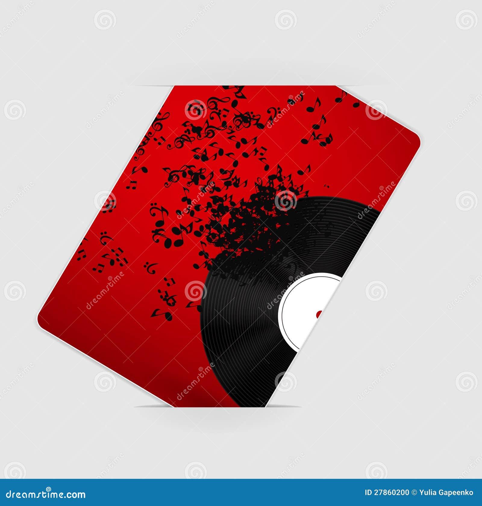 Abstrakcjonistyczna muzyczna tła wektoru ilustracja dla