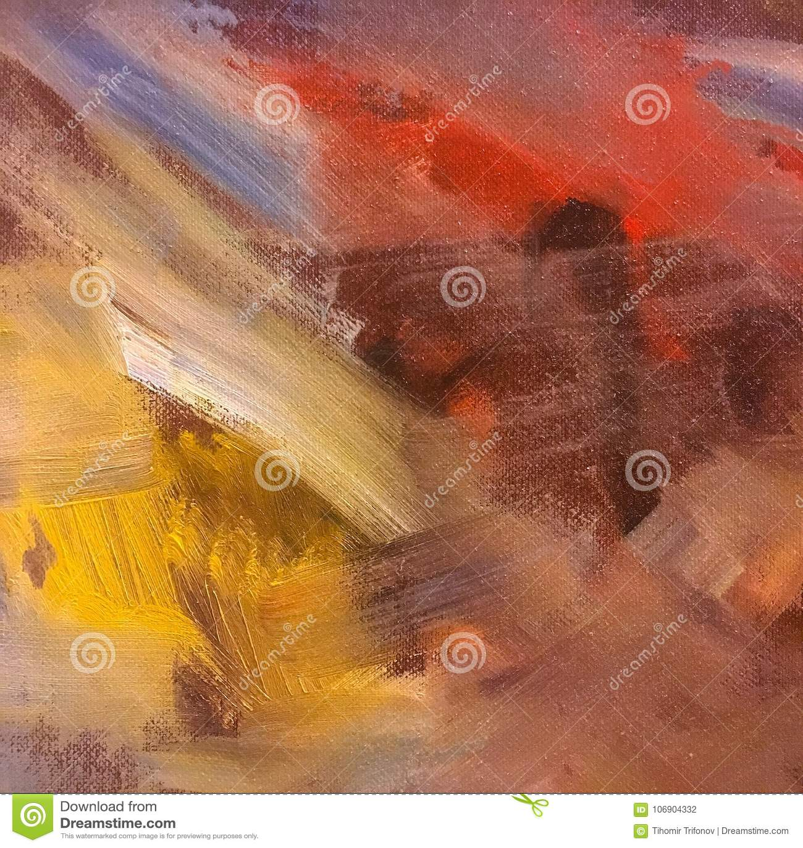 Abstrakcjonistyczna nafcianej farby tekstura na kanwie, abstrakcjonistyczny tło obraz Farby tekstury tło