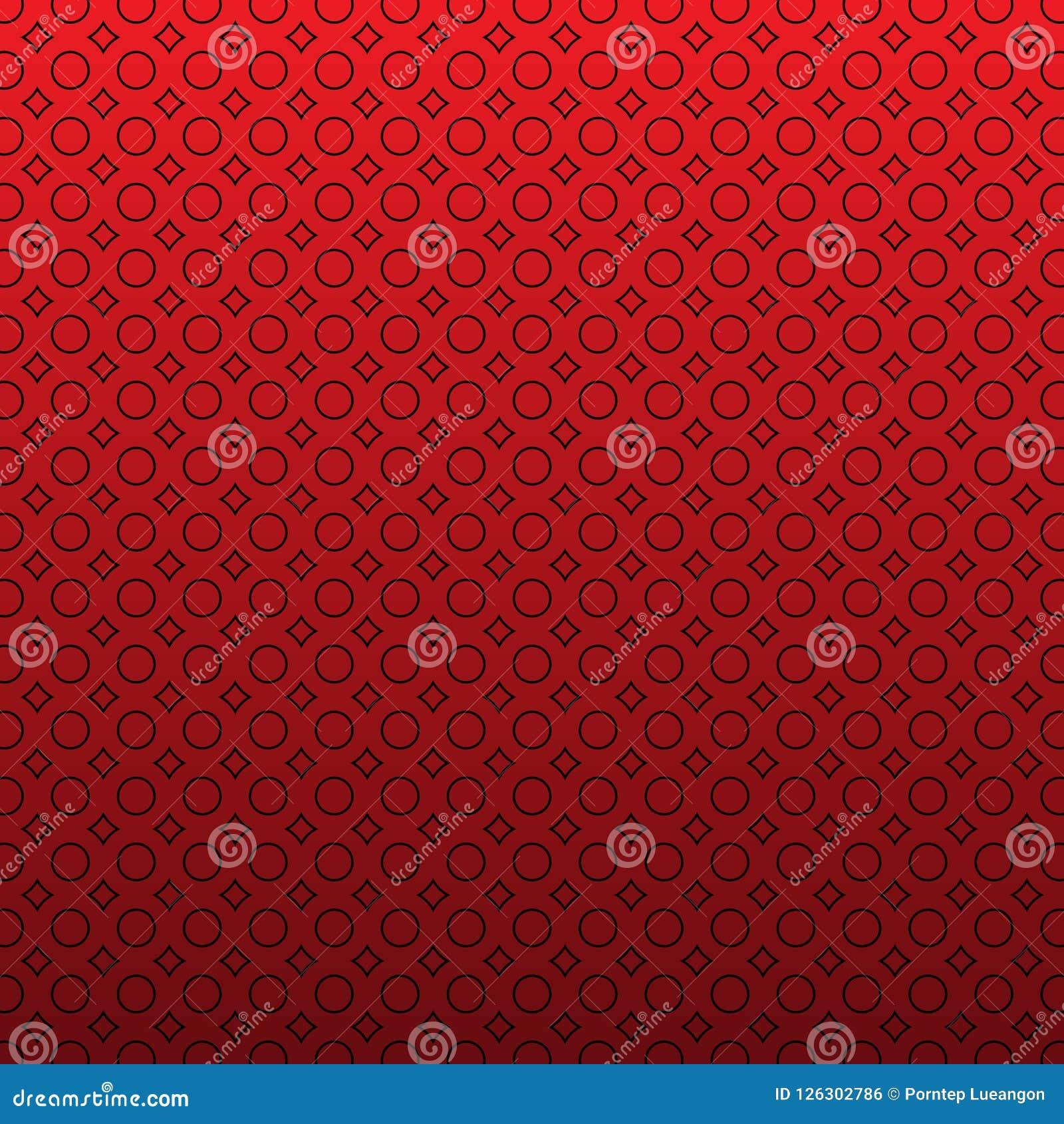 Abstrakcjonistyczna niekończący się geometryczna tekstura, symmetric kratownica, powtórek płytki Prosty minimalistyczny czerwony