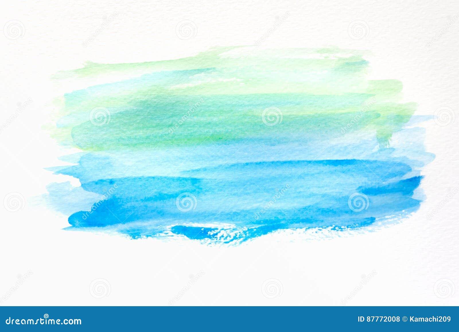 Abstrakcjonistyczna ręka malujący akwareli tło na papierze tekstura dla kreatywnie tapety lub projekta grafiki