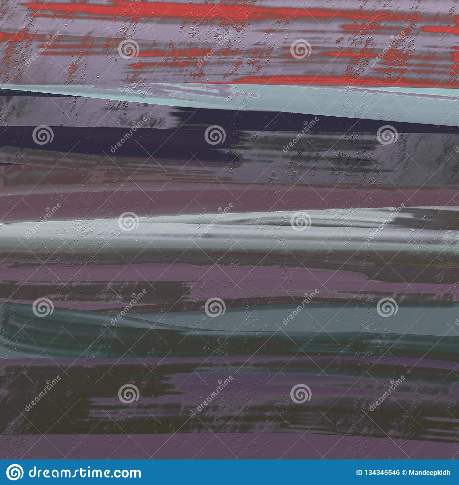 Abstrakcjonistyczna ręka rysujący malujący atramentu muśnięcie muska grafikę Suchy atrament spattered na grungy powierzchni Bardz