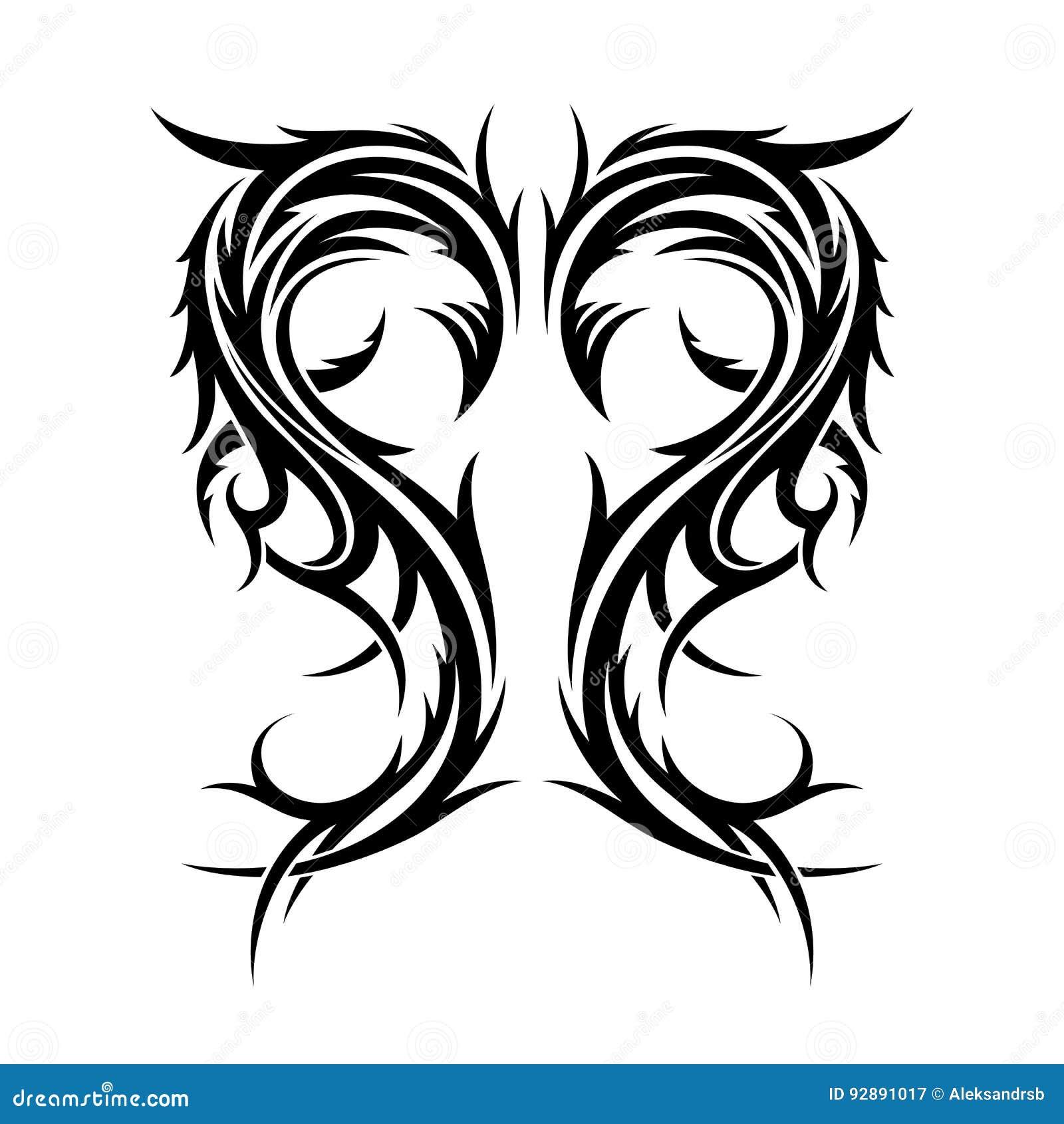 Abstrakcjonistyczna Ręka Rysujący Plemienny Tatuaż