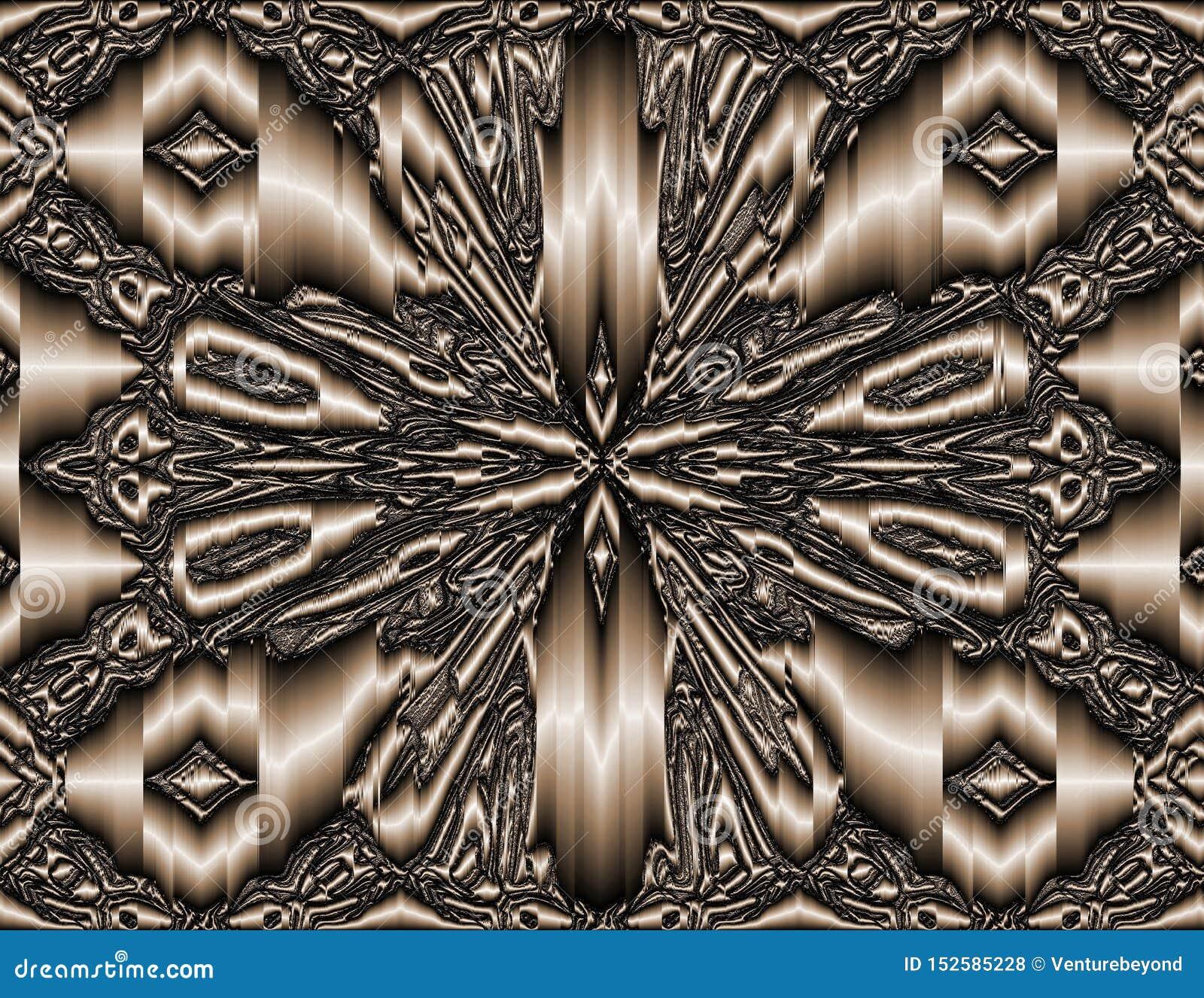 Abstrakcjonistyczna sztuka: 3D groszaka Motylia broszka - wersja: Wszystko Miedziani