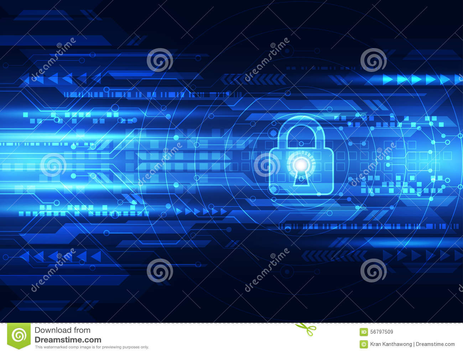 Abstrakcjonistyczna technologii ochrona na globalnej sieci tle, wektorowa ilustracja