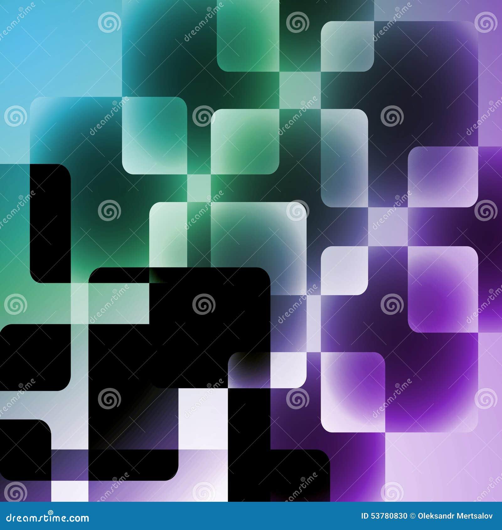 Abstrakcjonistyczna Wektorowa ilustracja kwadraty