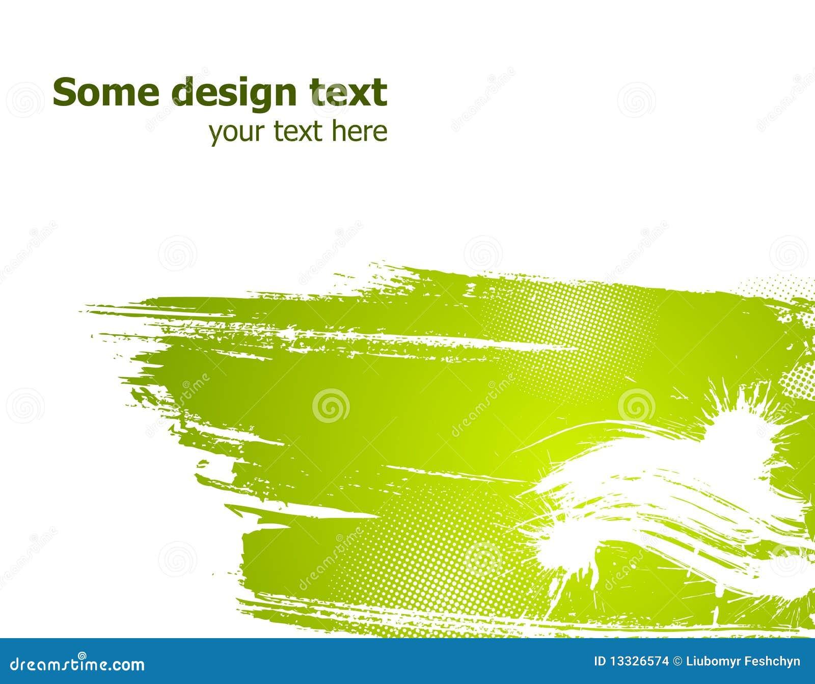 Abstrakcjonistyczna zielona ilustracja