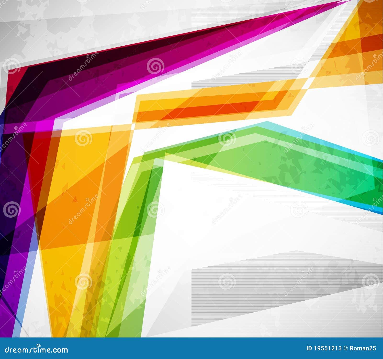 Abstrakcjonistyczne kolorowe linie