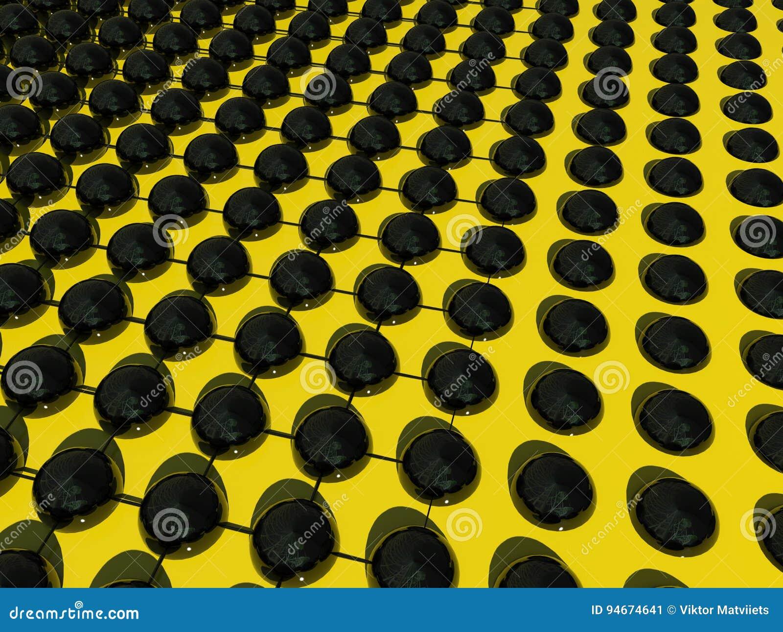 Abstrakcjonistyczne piłki i siatka dla tapety lub tła