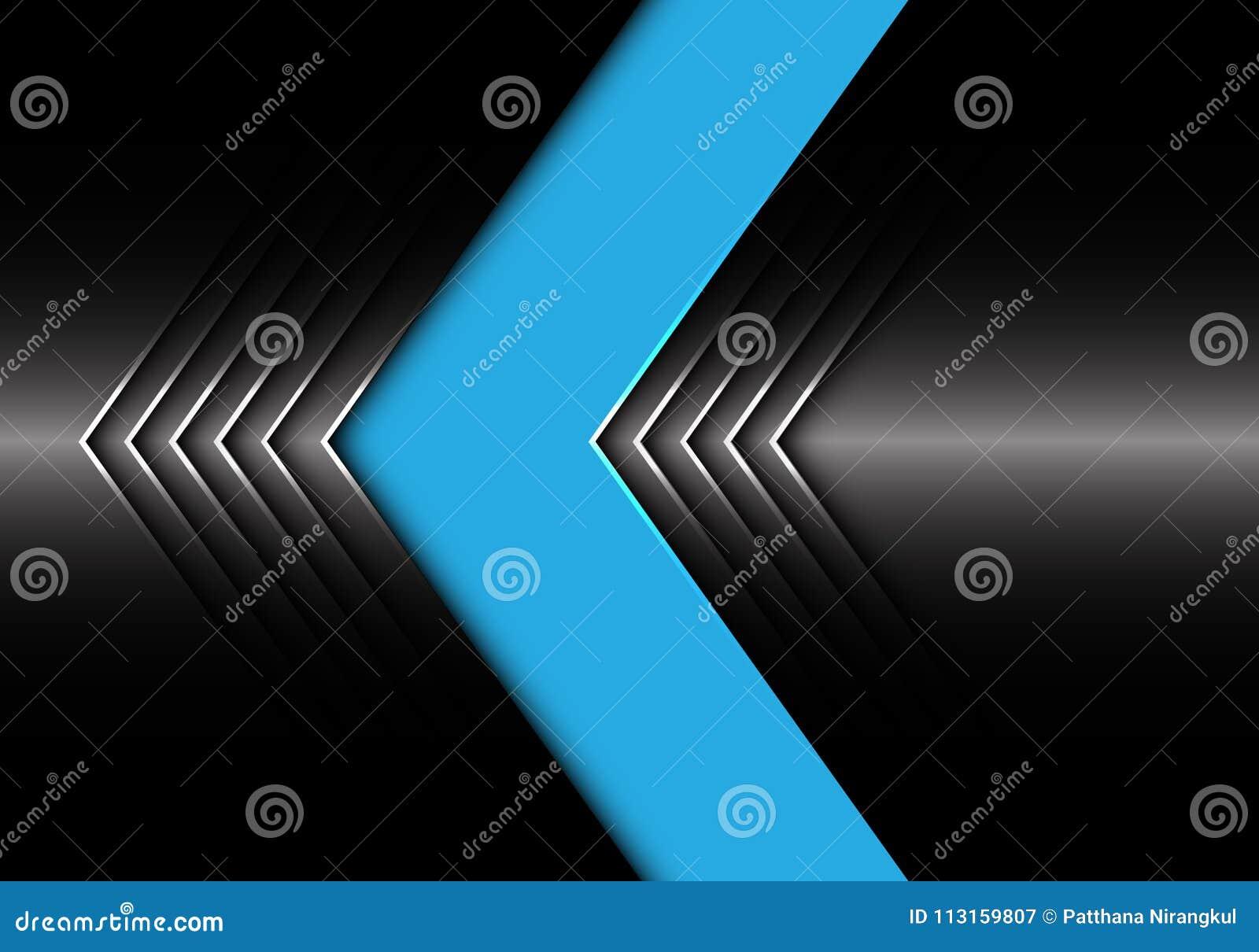 Abstrakcjonistycznego błękitnego ciemnego metalu strzałkowatego projekta tła tekstury nowożytny futurystyczny wektor