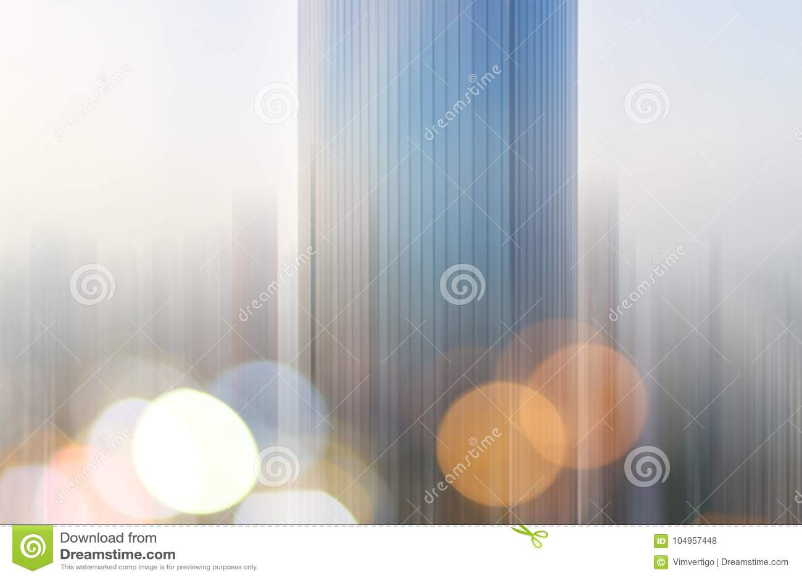 Abstrakcjonistycznego biznesowego nowożytnego miasta architektury miastowy futurystyczny tło Nieruchomości pojęcie, ruch plama, o