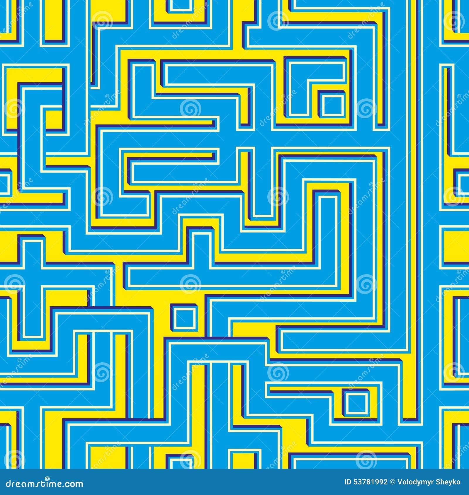 Abstrakcjonistycznego colorl bezszwowy wzór przypomina labirynt