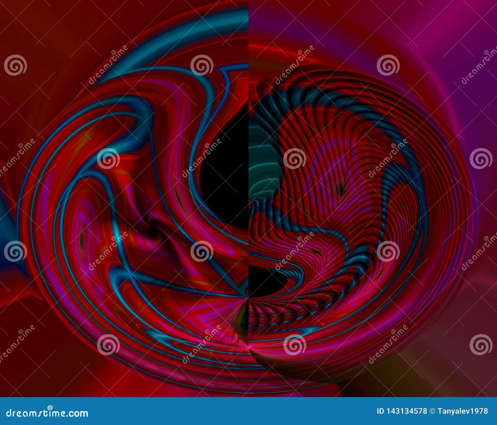 Abstrakcjonistycznego cyfrowego fractal stylu światła graficzni kreatywnie, odpłacają się artystyczny, elegancja, dynamiczna