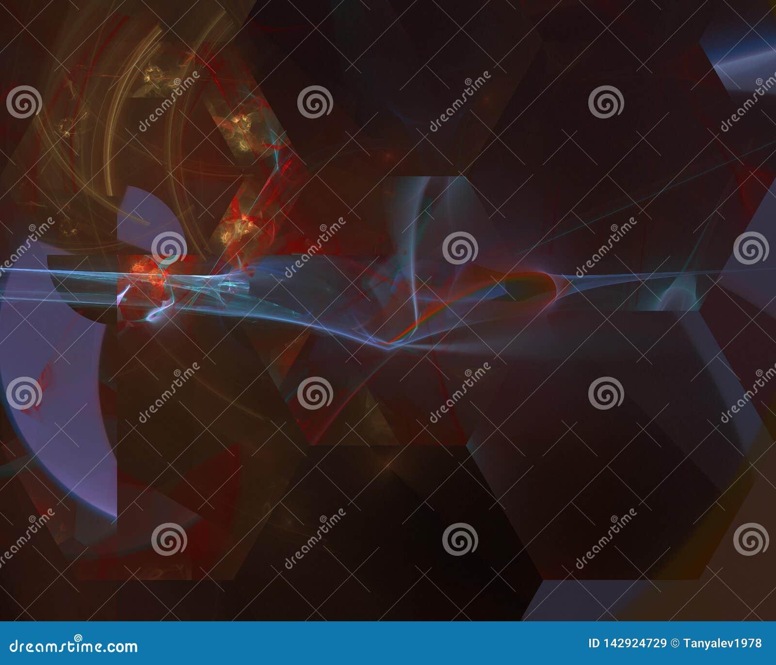 Abstrakcjonistycznego fractal kreatywnie artystyczny, elegancja, przyszłości karta   miękki zawijas fali kolor