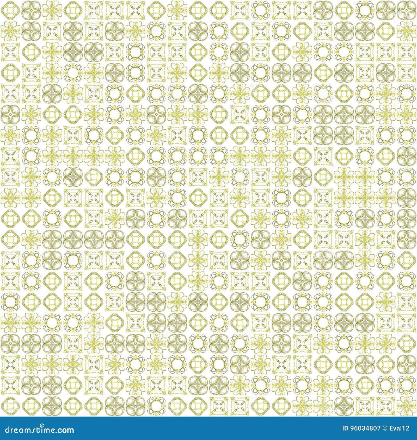 Abstrakcjonistycznego grunge tekstury fractal żółci wzory