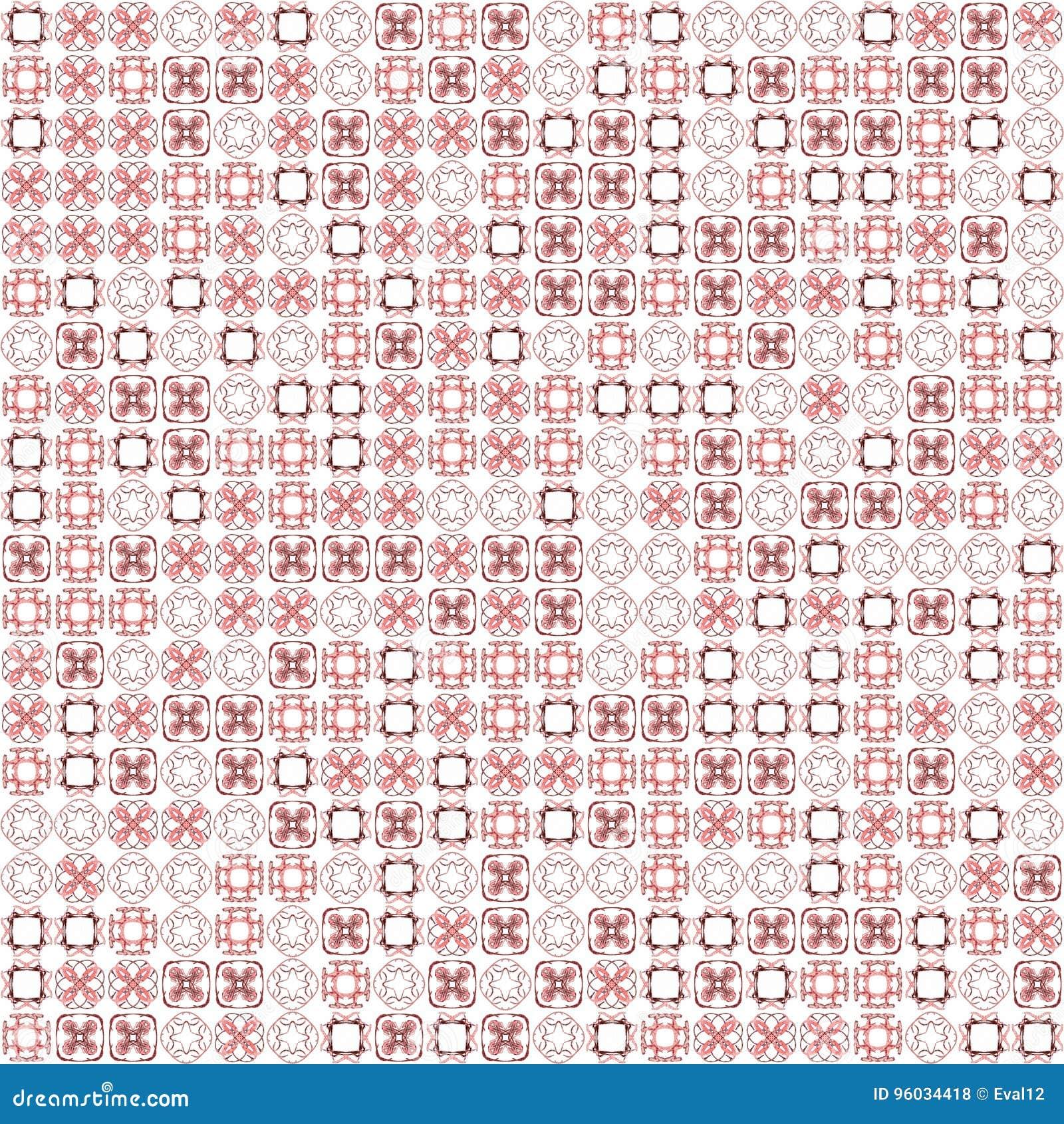 Abstrakcjonistycznego grunge tekstury fractal czerwoni wzory