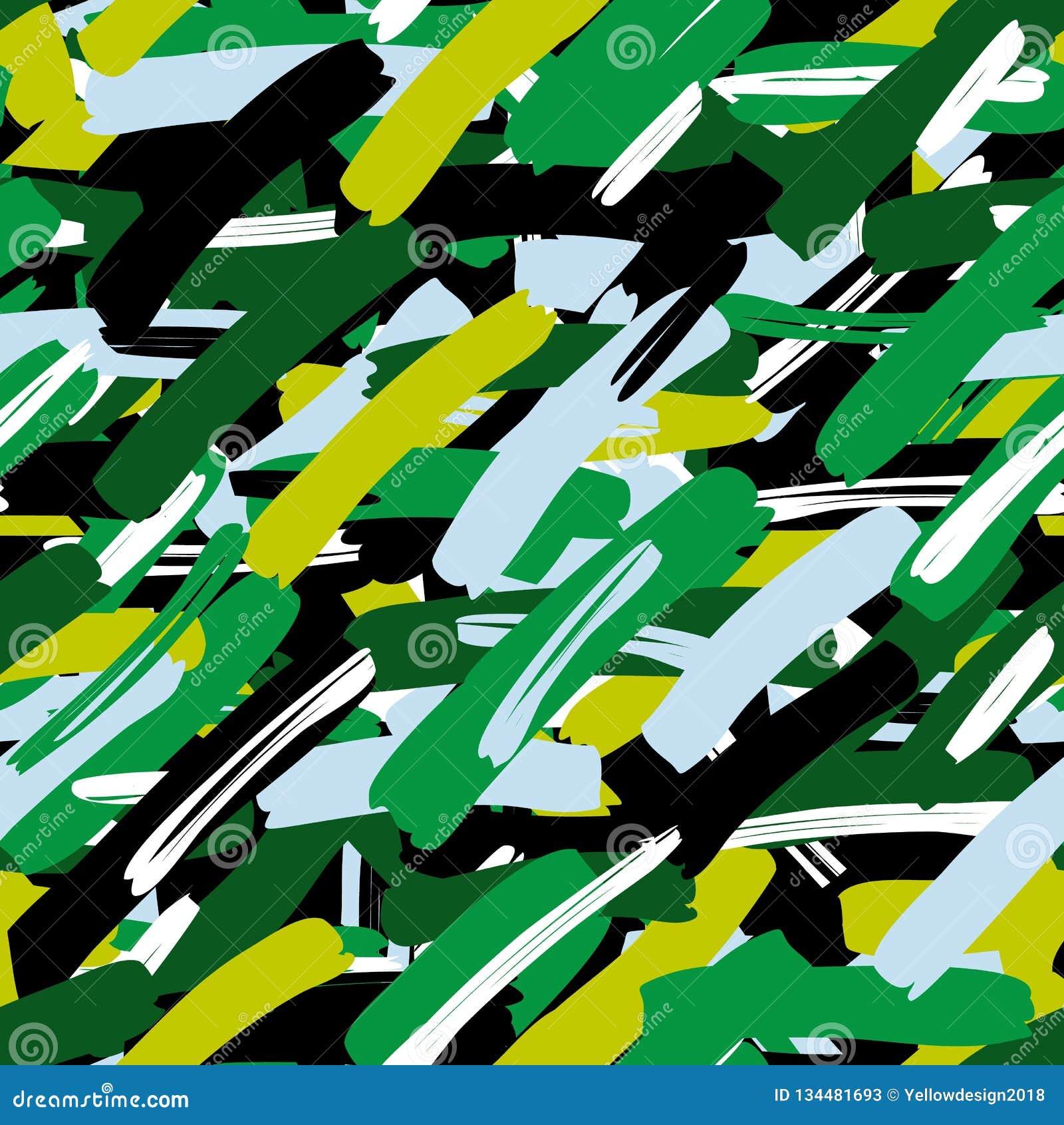 Abstrakcjonistycznego kamuflażu bezszwowi deseniowi tropikalni liście, moda, wnętrze, opakunkowy pojęcie