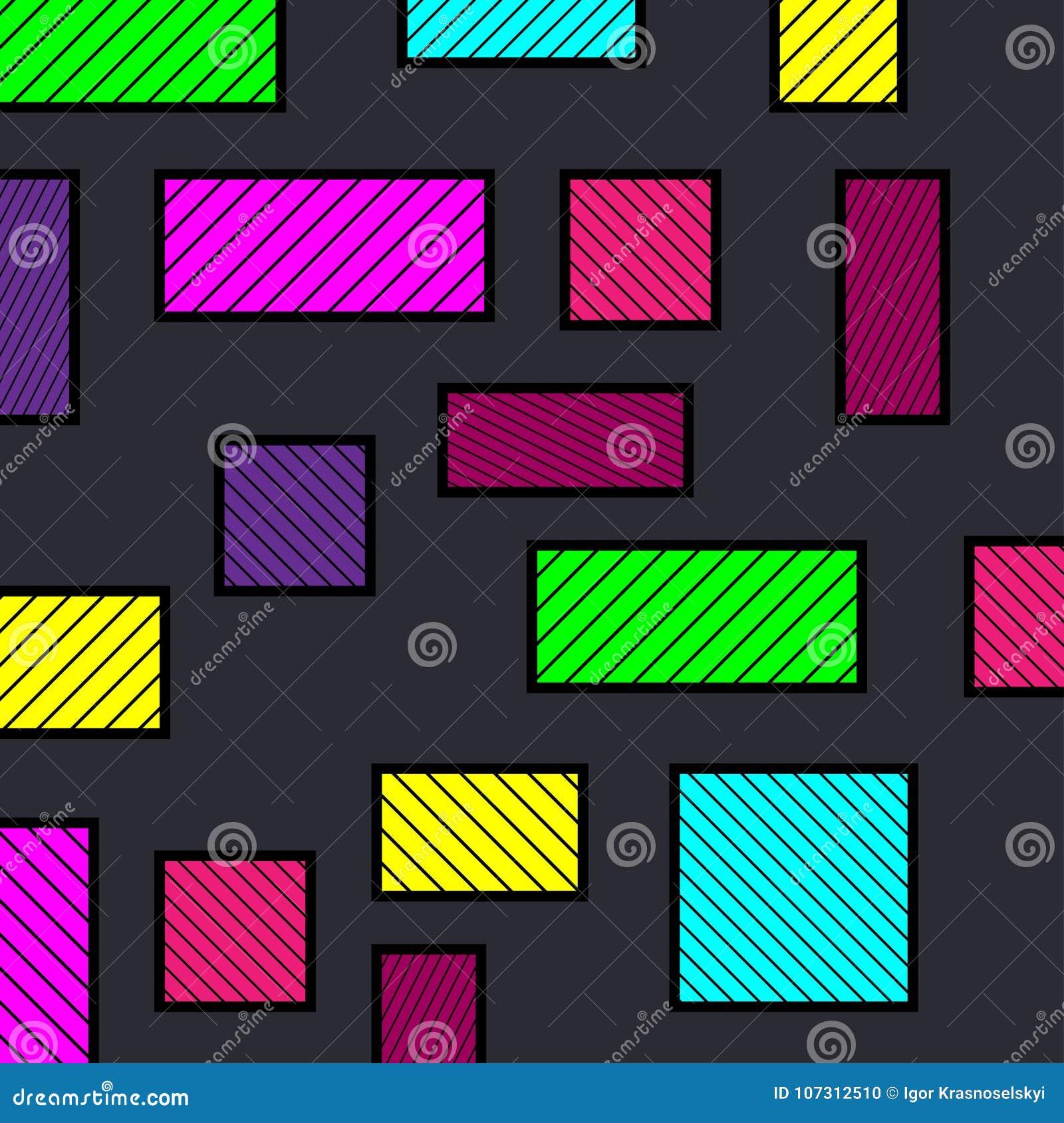 Abstrakcjonistycznego kolorowe geometrycznego tła kolorowe linie kwadraty ilustracja abstrakcyjna