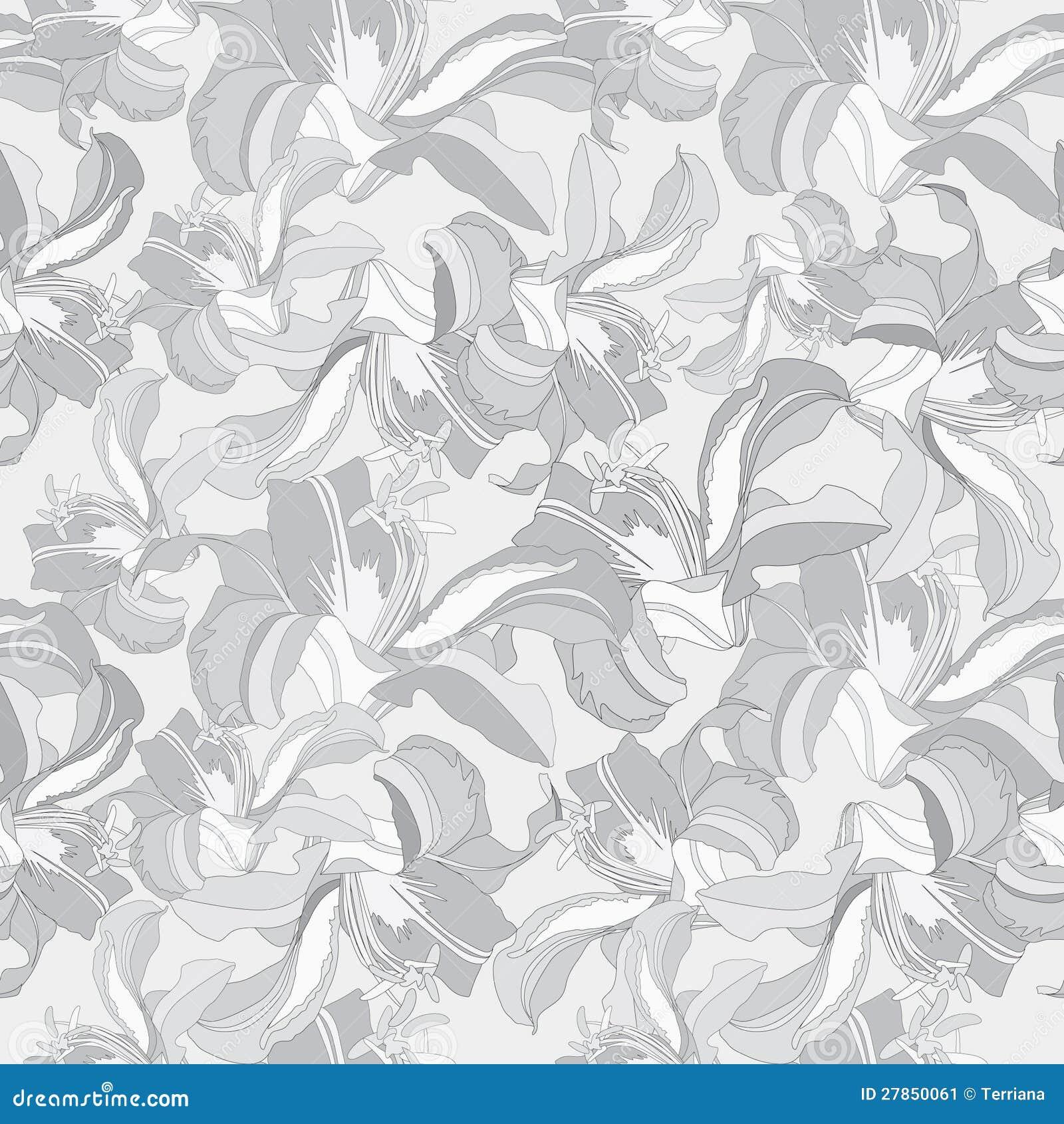Abstrakcjonistycznego kwiatu tła Bezszwowa Wektorowa tekstura