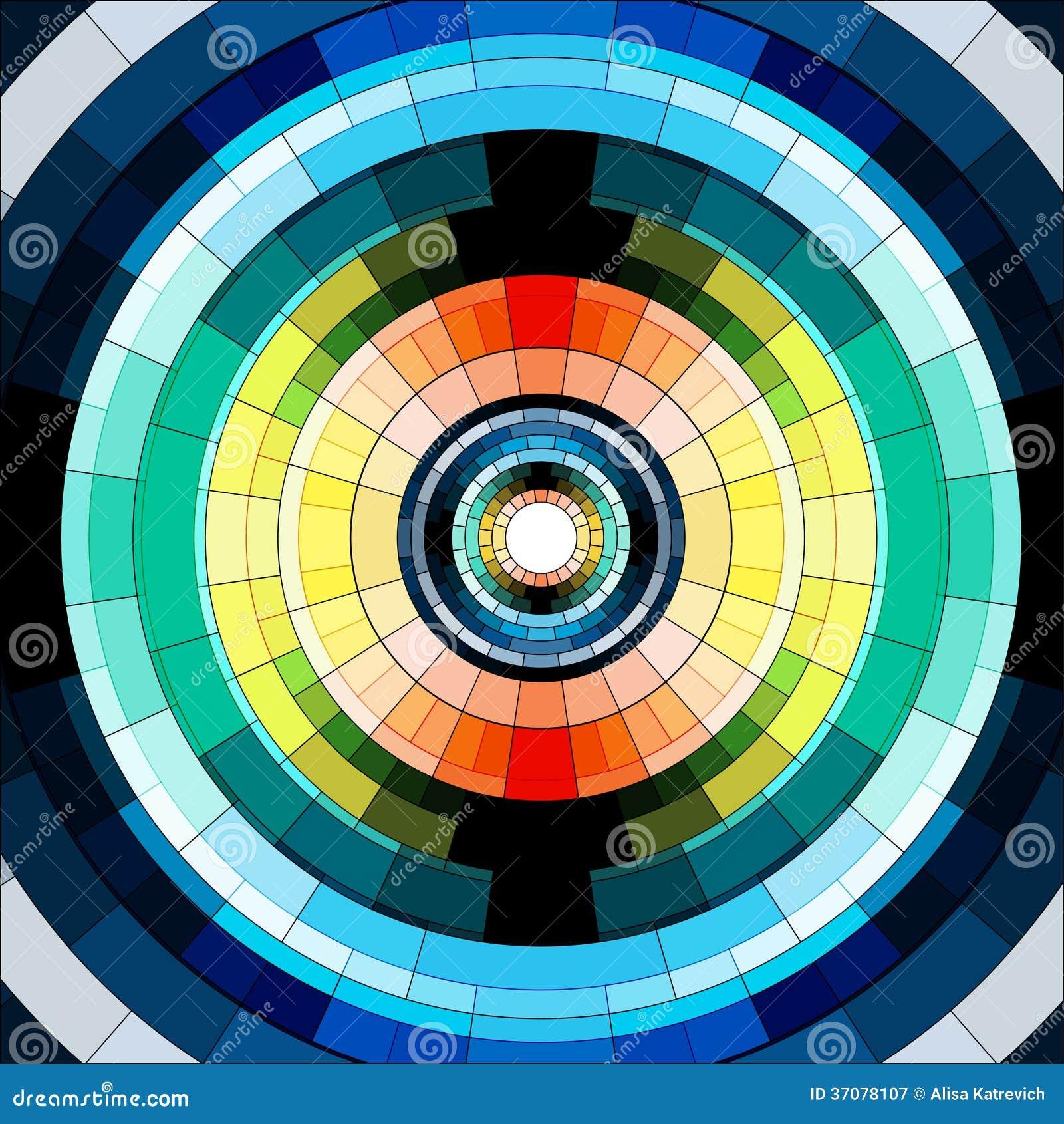 Download Abstrakcjonistycznego Okręgu Mozaiki Bezszwowy Wzór Ilustracja Wektor - Ilustracja złożonej z budowa, geometryczny: 37078107