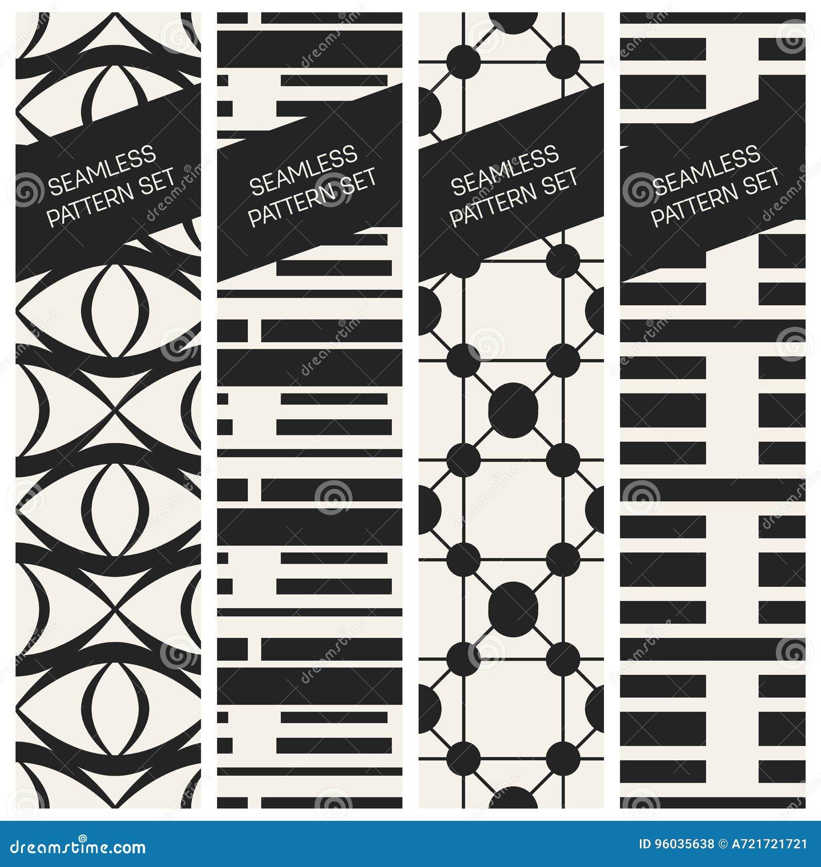 Abstrakcjonistycznego pojęcia monochromatyczny geometryczny wzór Czarny i biały minimalny tło Kreatywnie ilustracyjny szablon bez