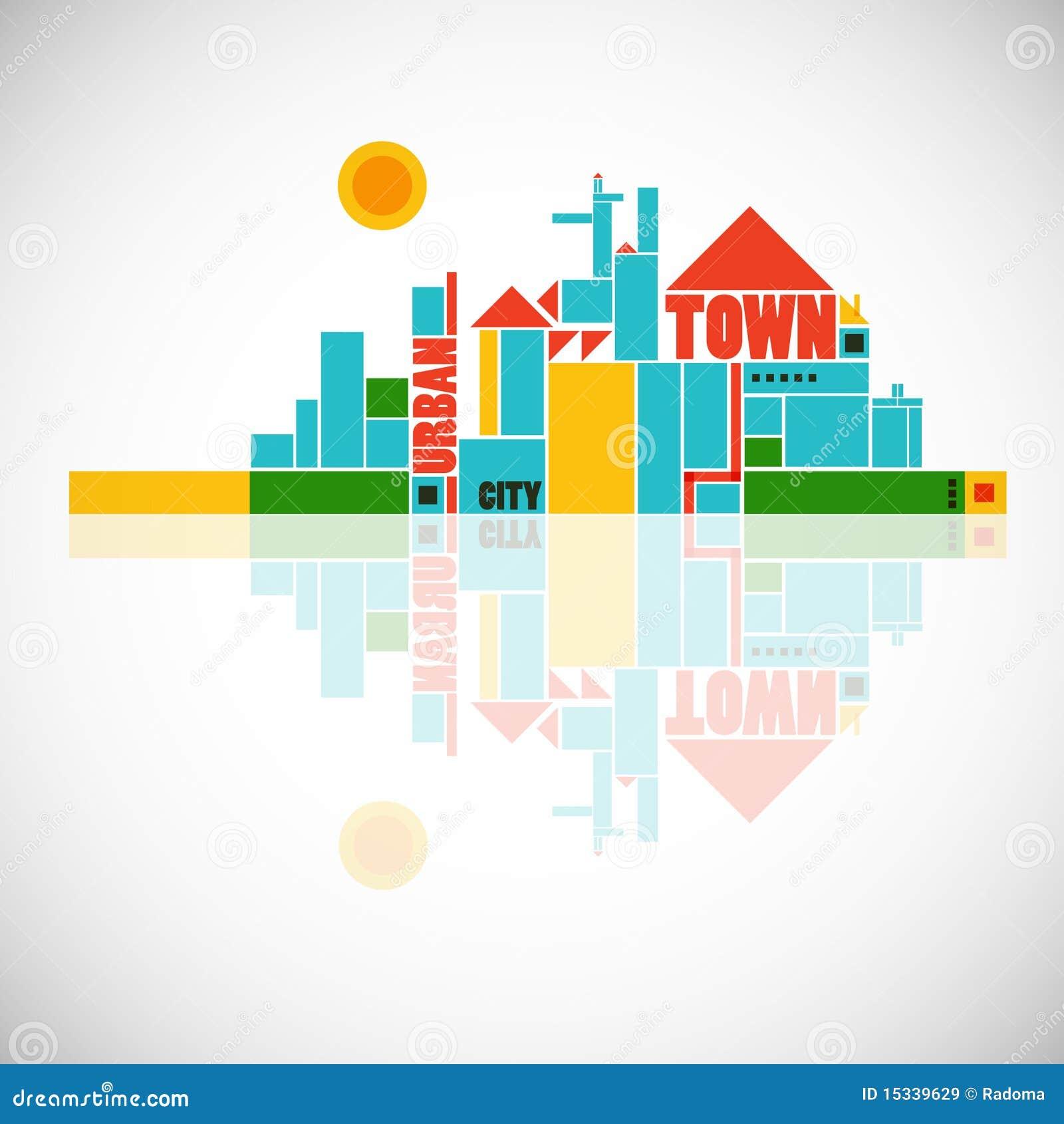 Abstrakcjonistycznego składu geometryczny miasteczko