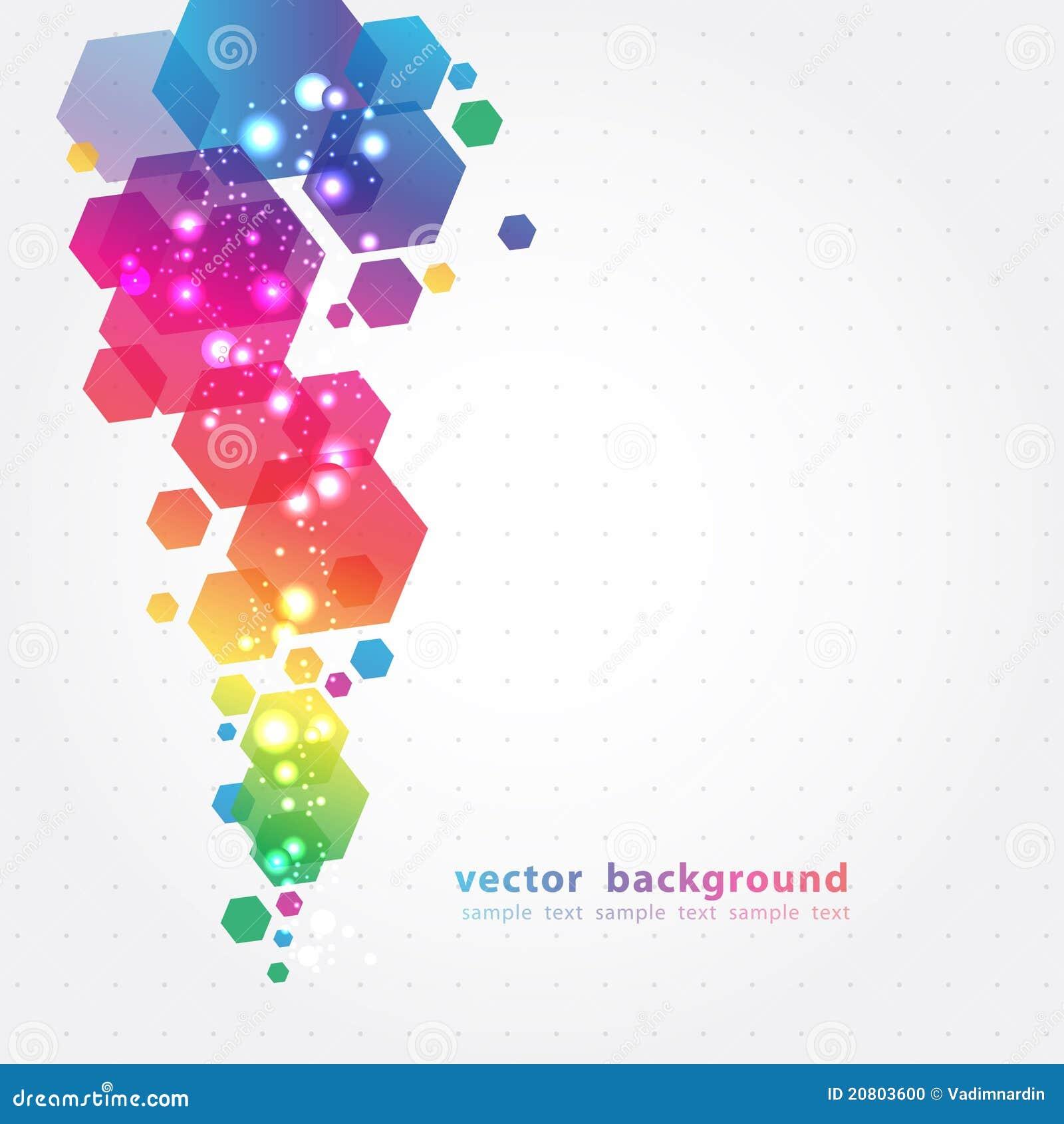 Abstrakcjonistycznego tła kolorowy wektor