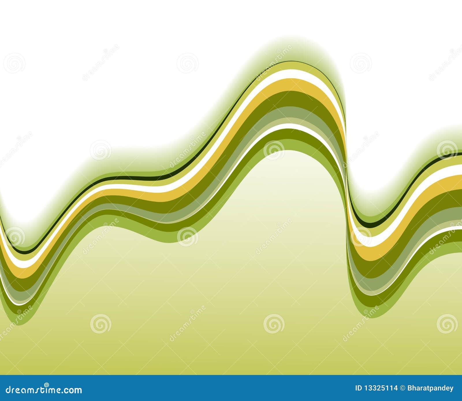 Abstrakcjonistycznego tła zielona fala