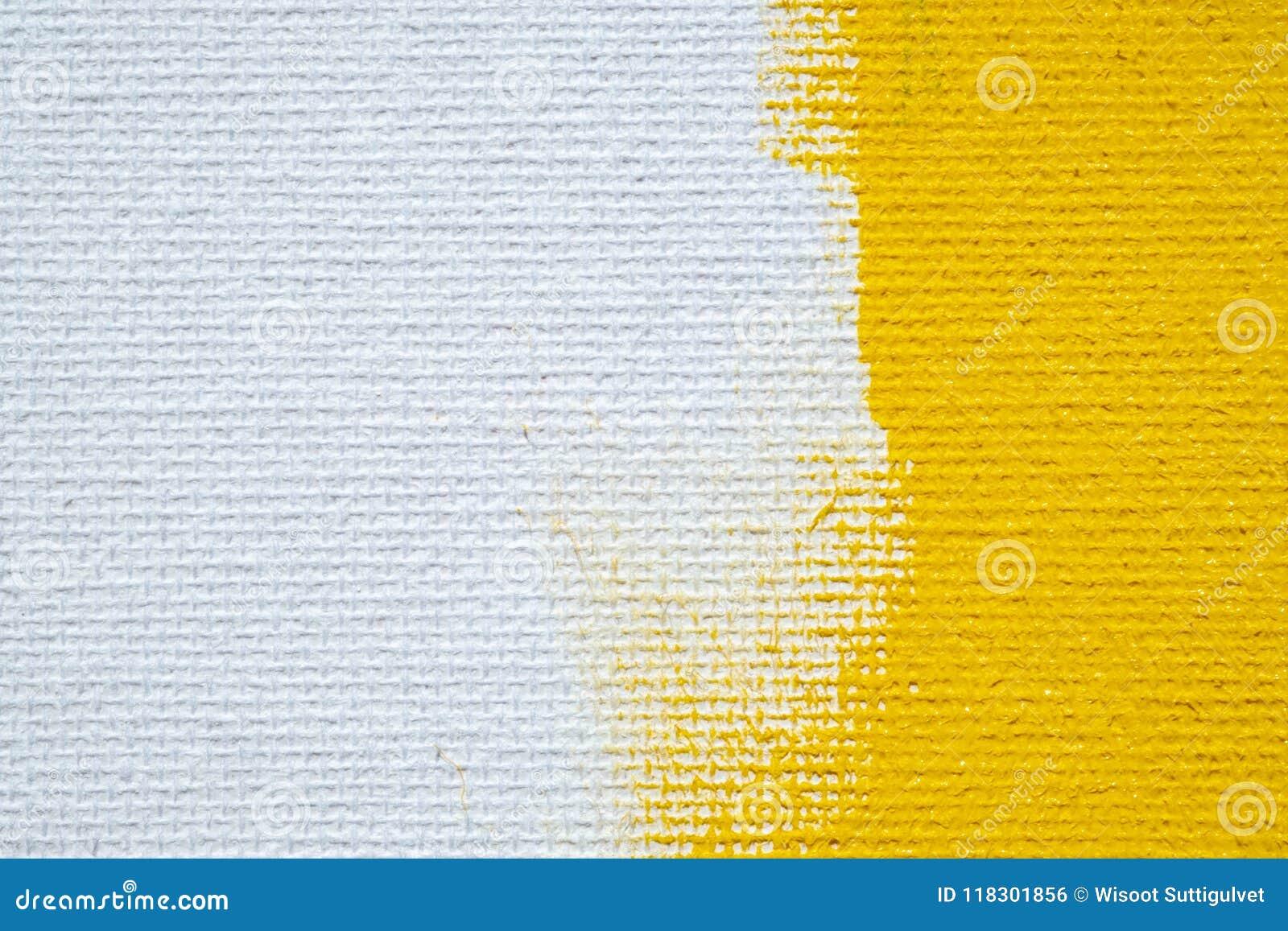 Abstrakcjonistycznej żółtej tła grunge białej granicy żółty kolor z białymi brezentowymi krawędziami, rocznika grunge tła tekstur