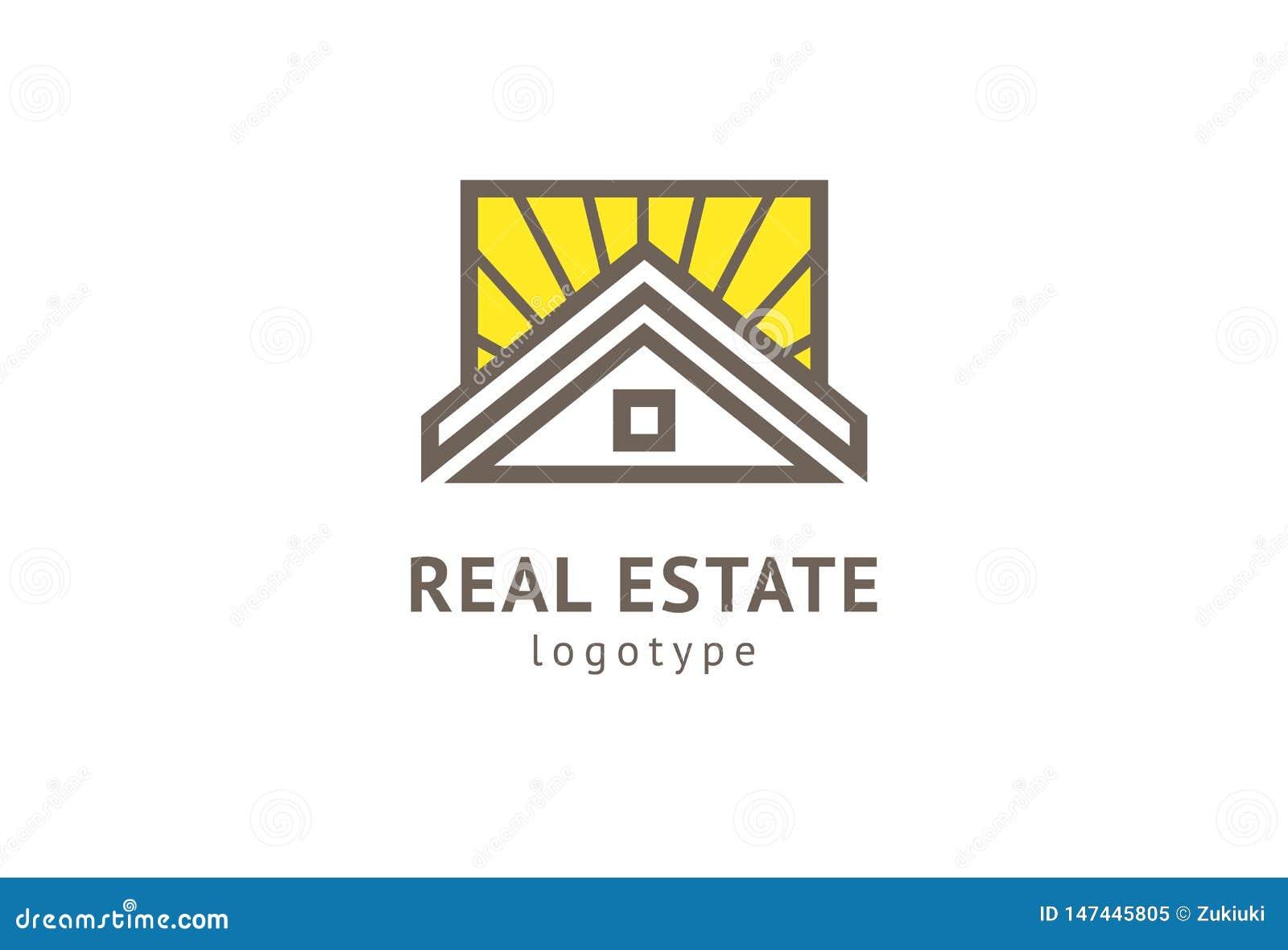 Abstrakcjonistycznej agenta nieruchomo?ci loga ikony wektorowy projekt Czynsz, sprzeda? nieruchomo?? wektorowy logo, Domowy czy?c