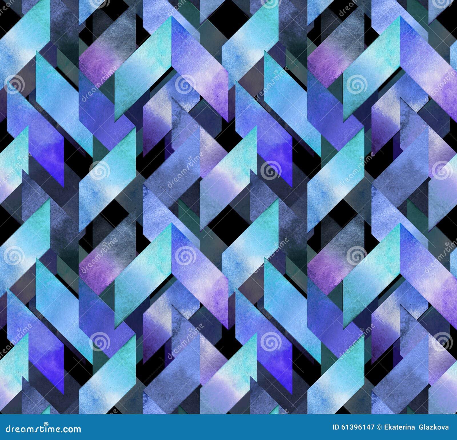 Abstrakcjonistycznej akwareli bezszwowy wzór