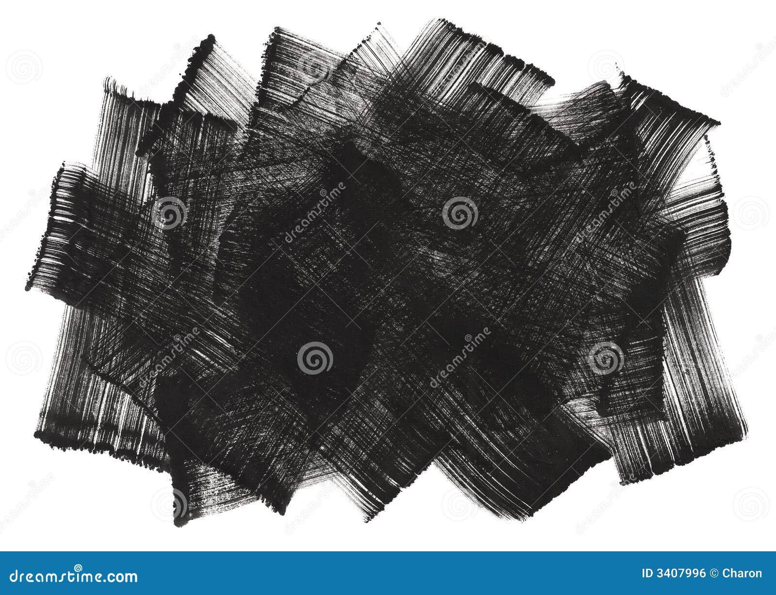 Abstrakcjonistycznej atramentu brushwork obraz sztuki