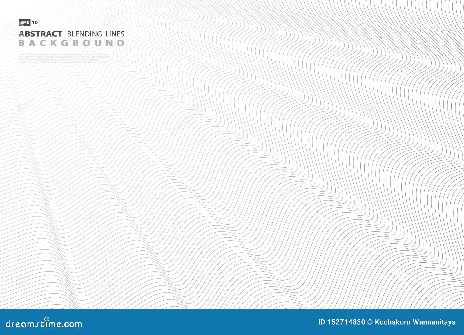 Abstrakcjonistycznej czarnej mieszanki linii wektorowy projekt dla okładkowej grafiki eps10 kwiat