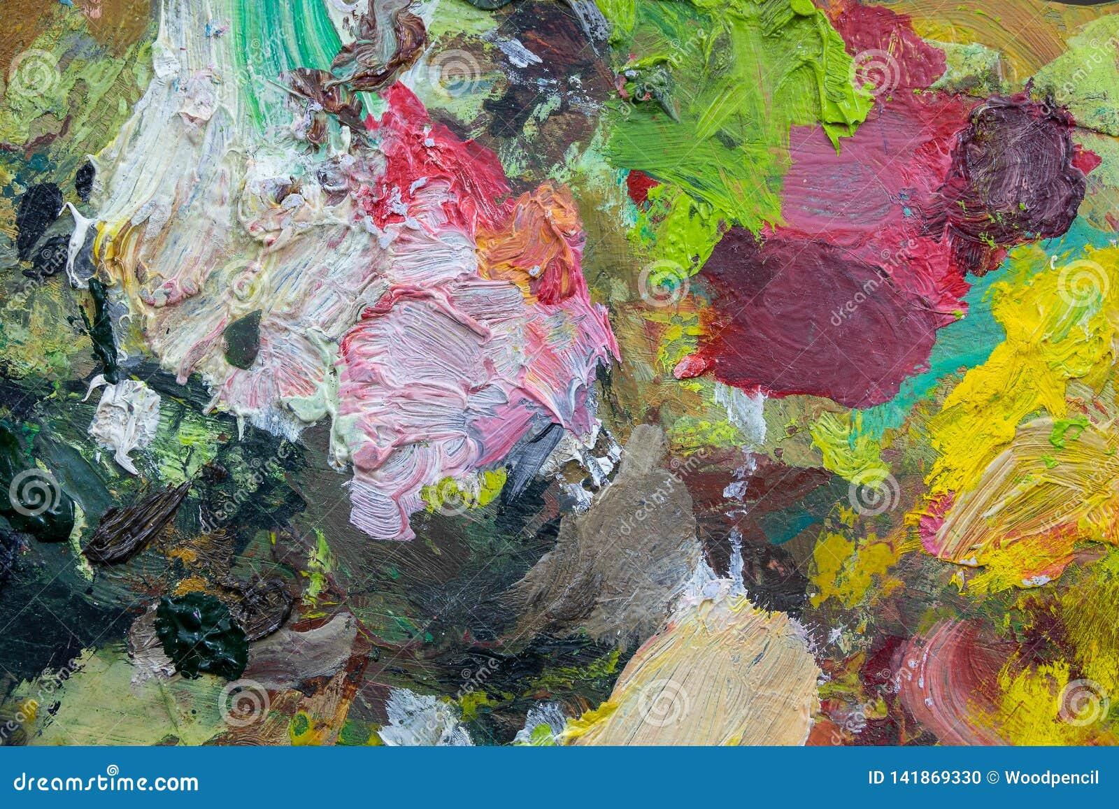 Abstrakcjonistycznej sztuki tła malująca tło ręka JAŹŃ ROBIĆ Sztuki paleta