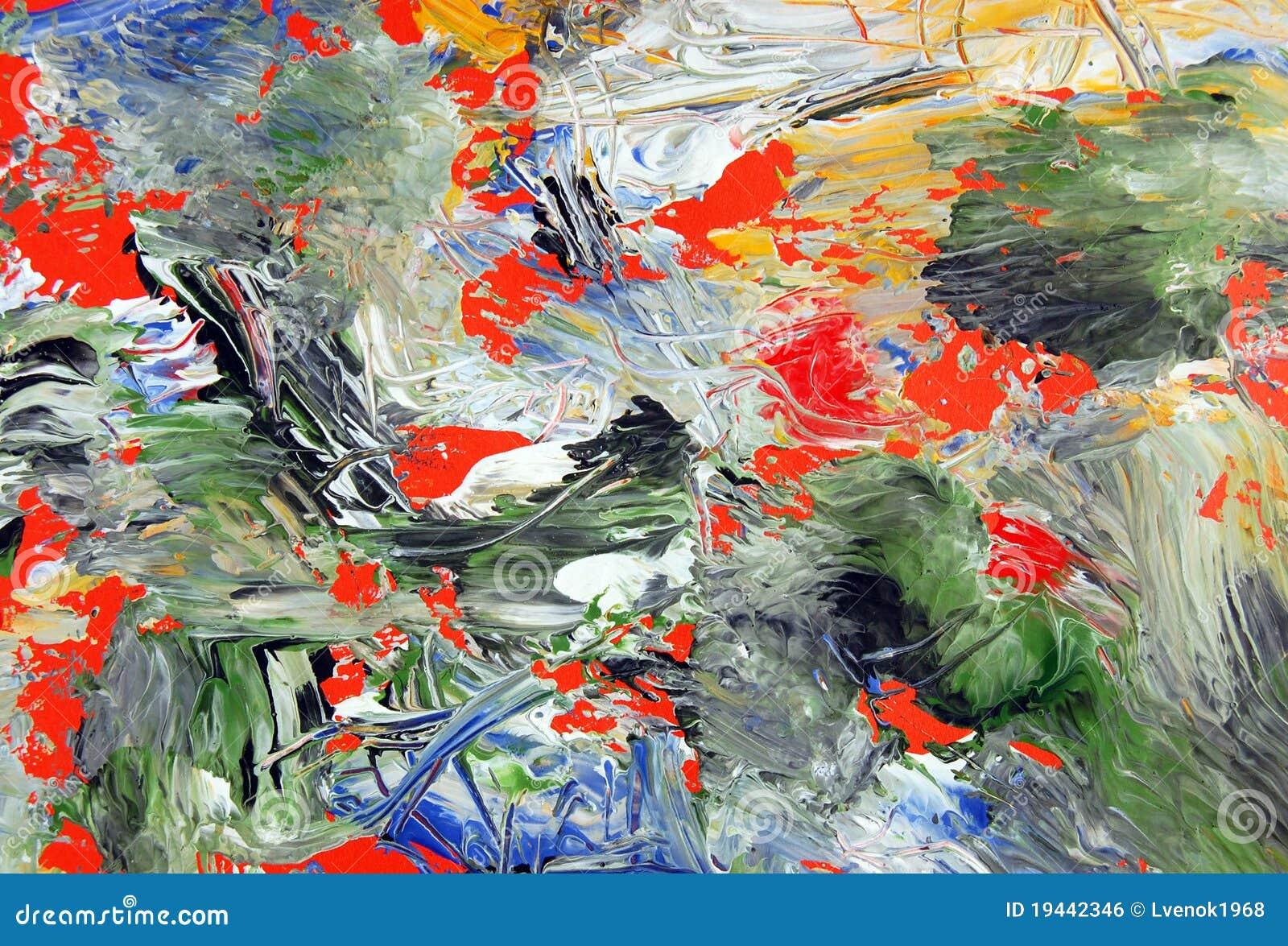 Abstrakcjonistycznej sztuki tło malująca tekstura