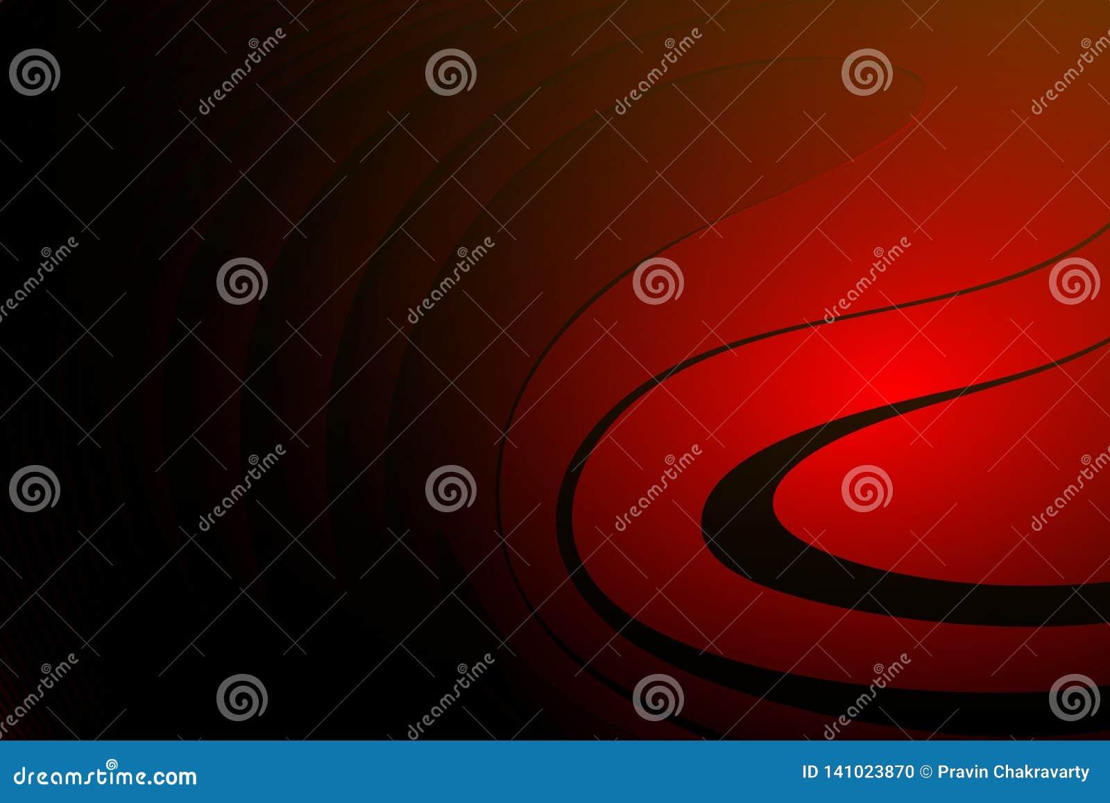 Abstrakcjonistycznej wektorowej czerwieni t?a ocieniona falista tapeta ?ywa koloru wektoru ilustracja