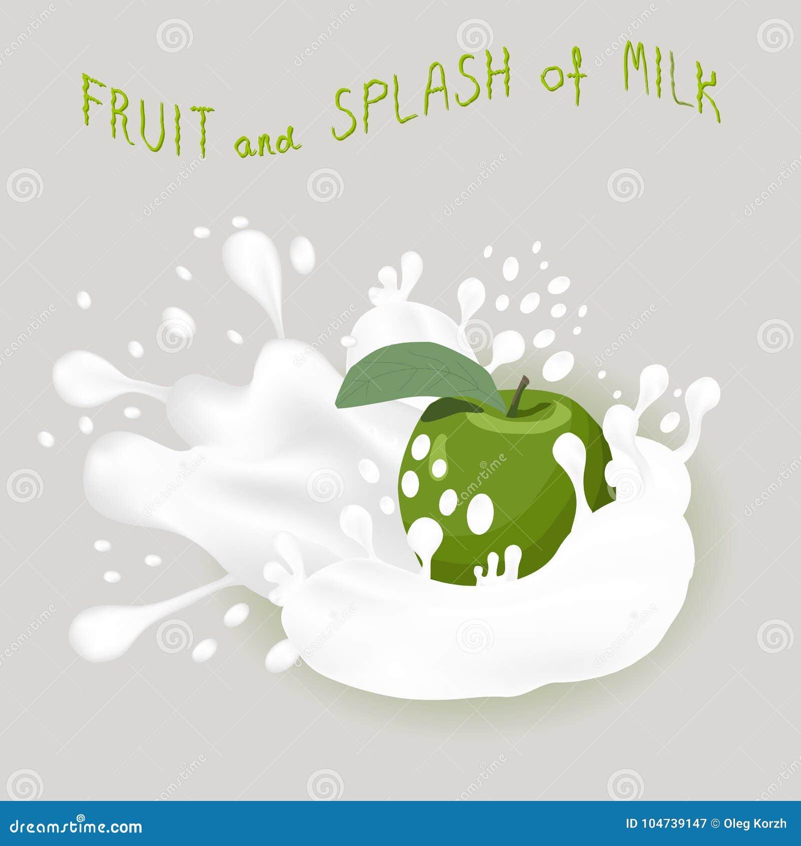 Abstrakcjonistycznej wektorowej ikony ilustracyjny logo dla całego dojrzałego owoc zieleni jabłka